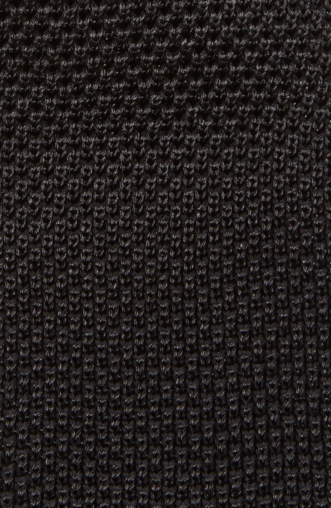 Stuart Silk Knit Tie,                             Alternate thumbnail 2, color,                             001