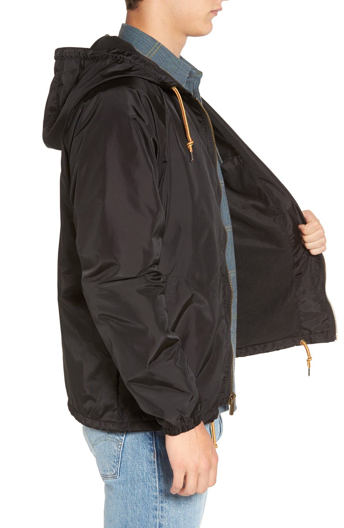 'Claxton' Water Repellent Windbreaker,                             Alternate thumbnail 3, color,                             001