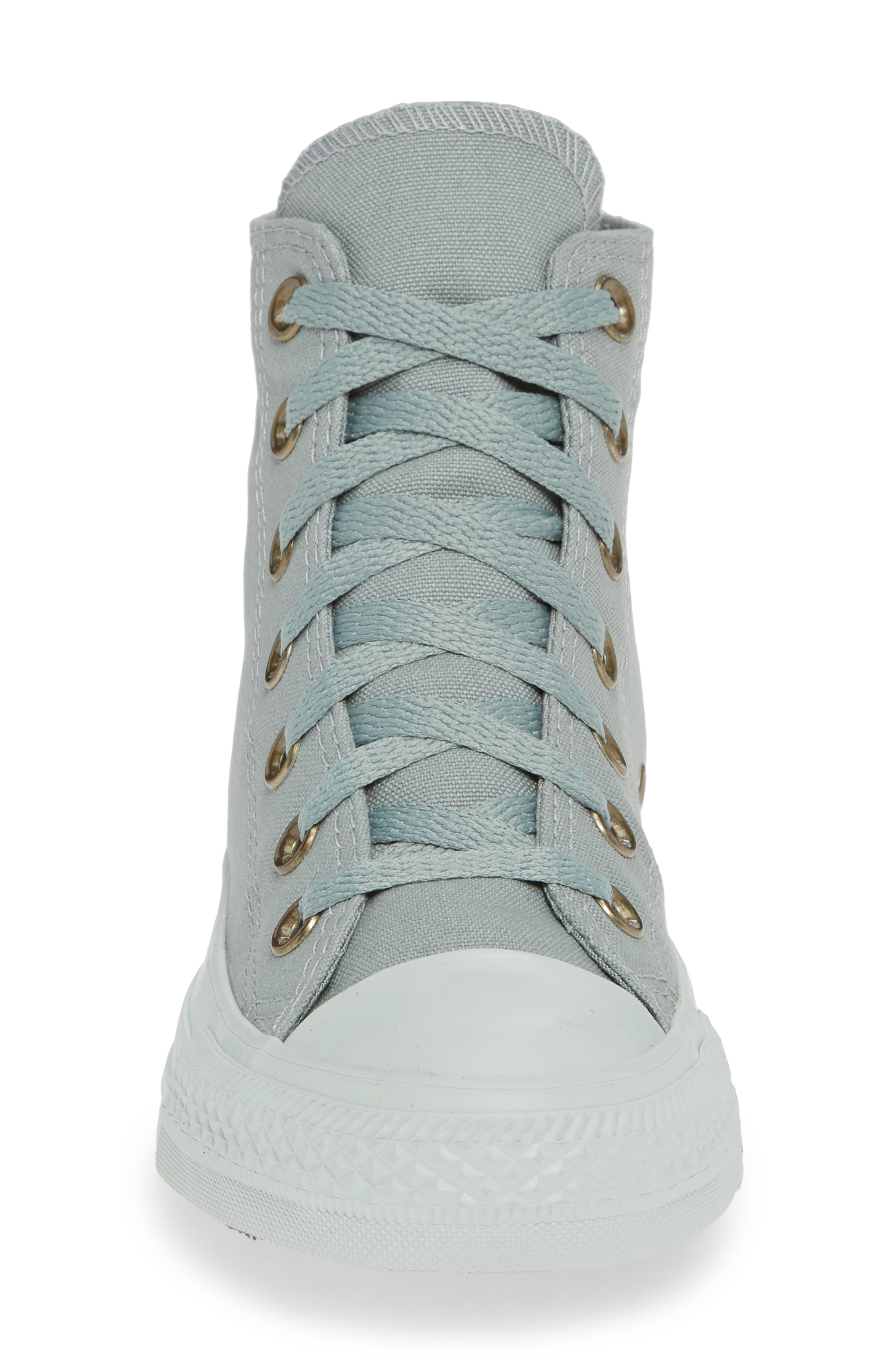 Chuck Taylor<sup>®</sup> All Star<sup>®</sup> Botanical High Top Sneaker,                             Alternate thumbnail 4, color,                             MICA GREEN
