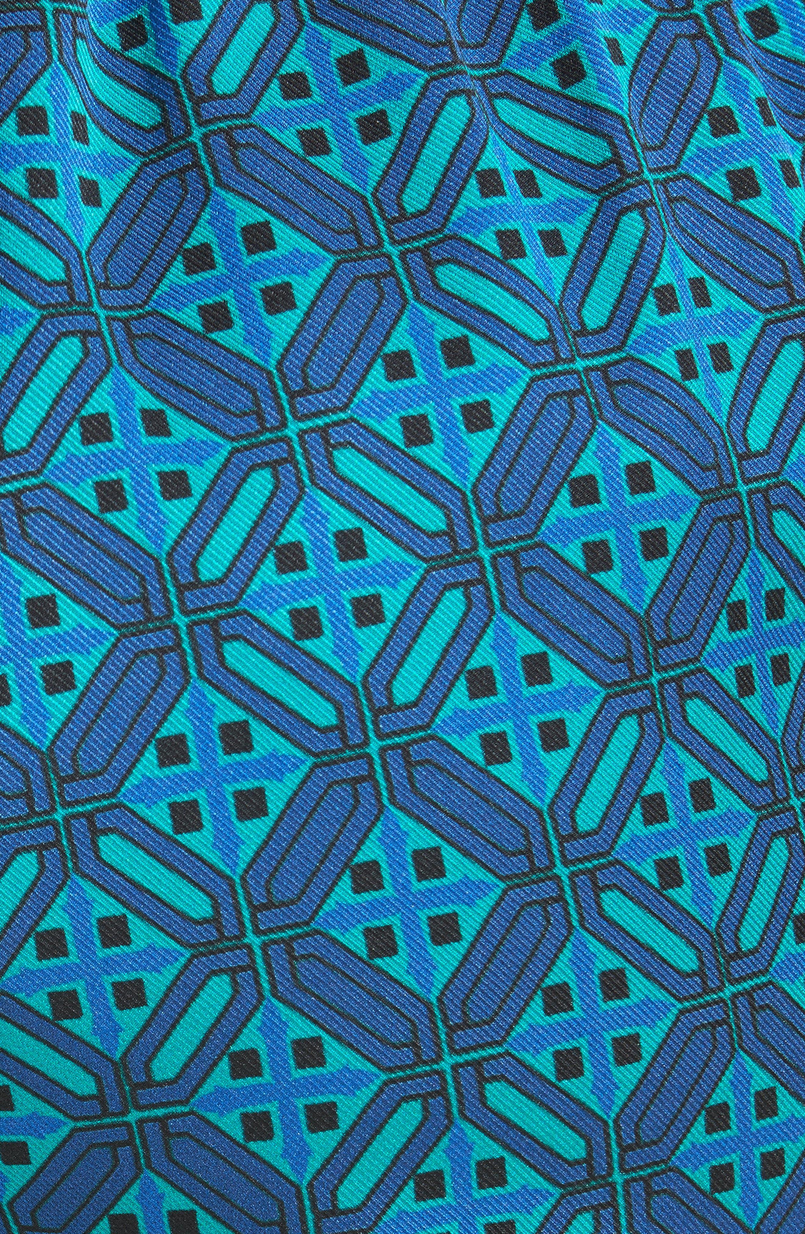 Ratan Print Stretch Silk Twill Pants,                             Alternate thumbnail 5, color,