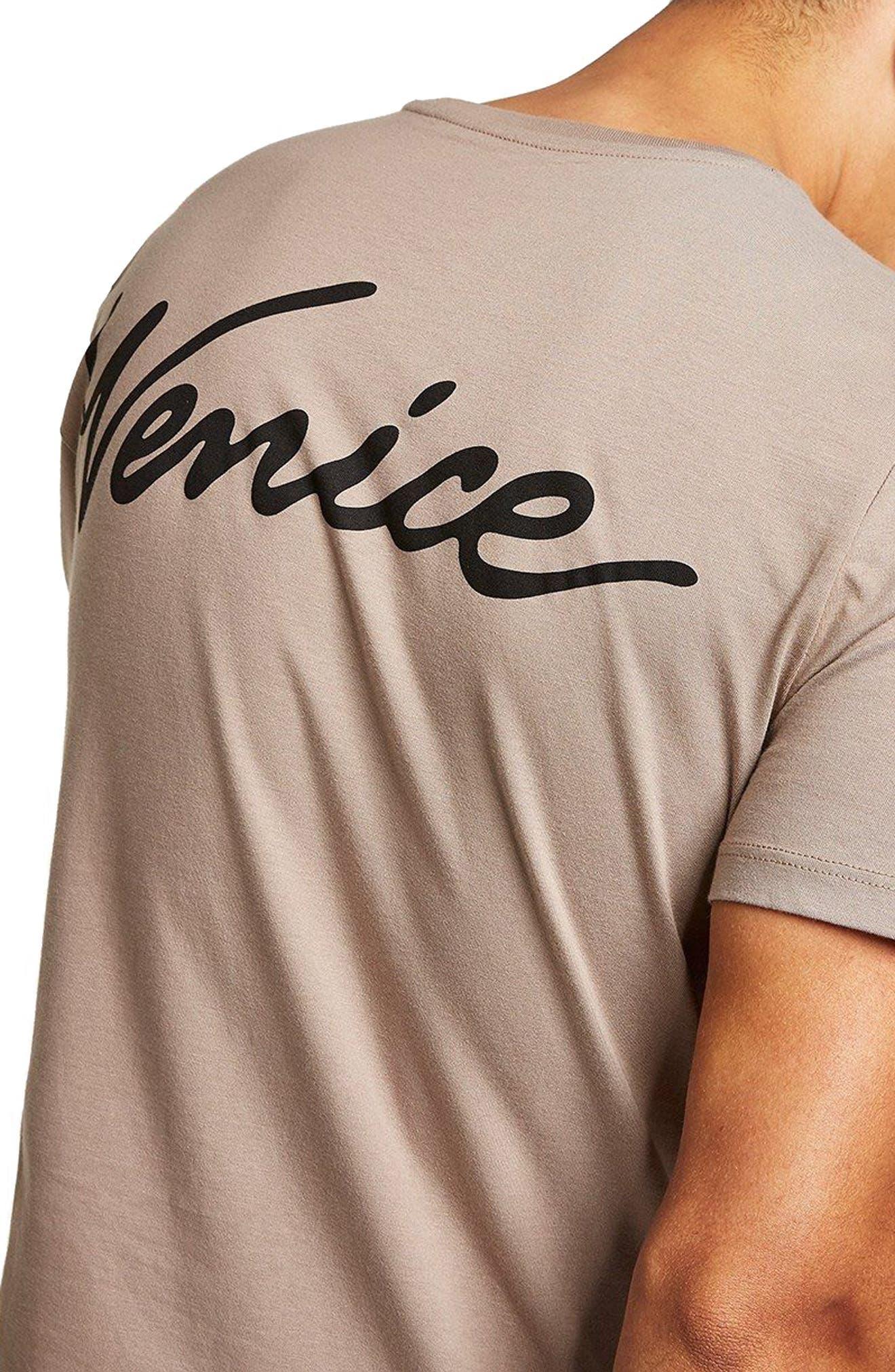 Slim Fit Venice Graphic T-Shirt,                             Alternate thumbnail 3, color,