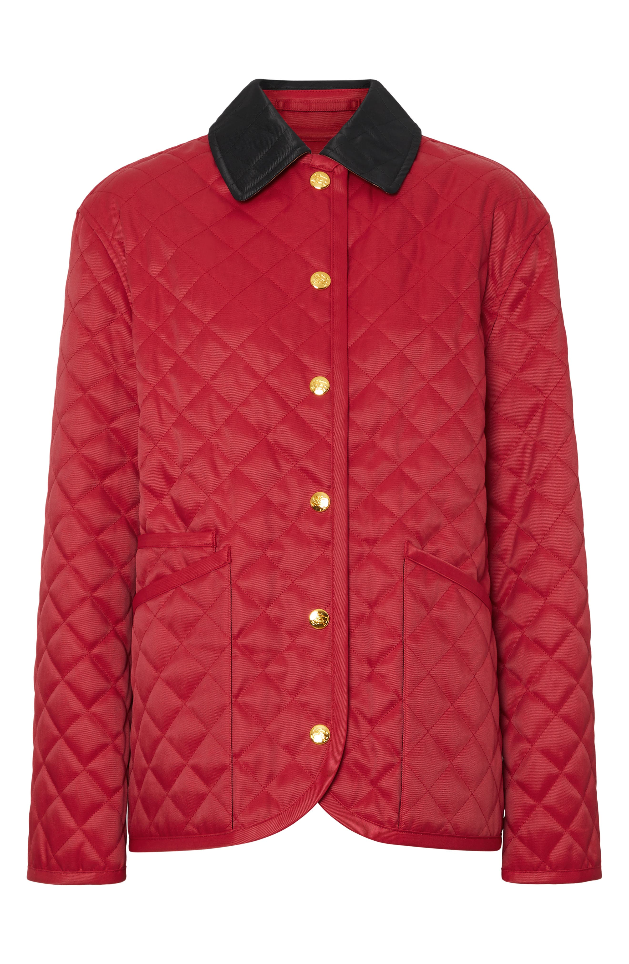 Dranefeld Quilted Jacket,                             Alternate thumbnail 4, color,                             RED