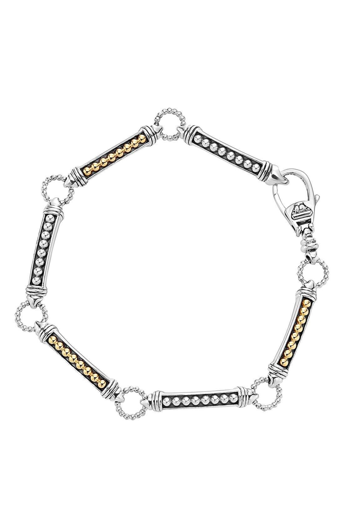 Caviar 'Superfine' Two-Tone Line Bracelet,                             Main thumbnail 1, color,                             040