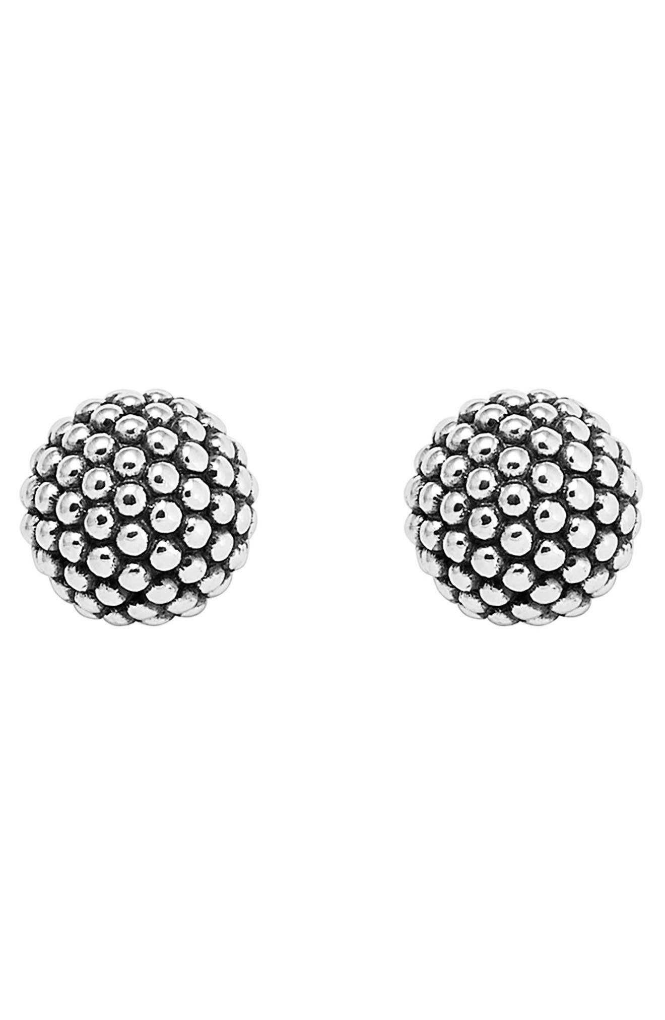 'Columbus Circle' Ball Stud Earrings,                             Alternate thumbnail 2, color,                             STERLING SILVER