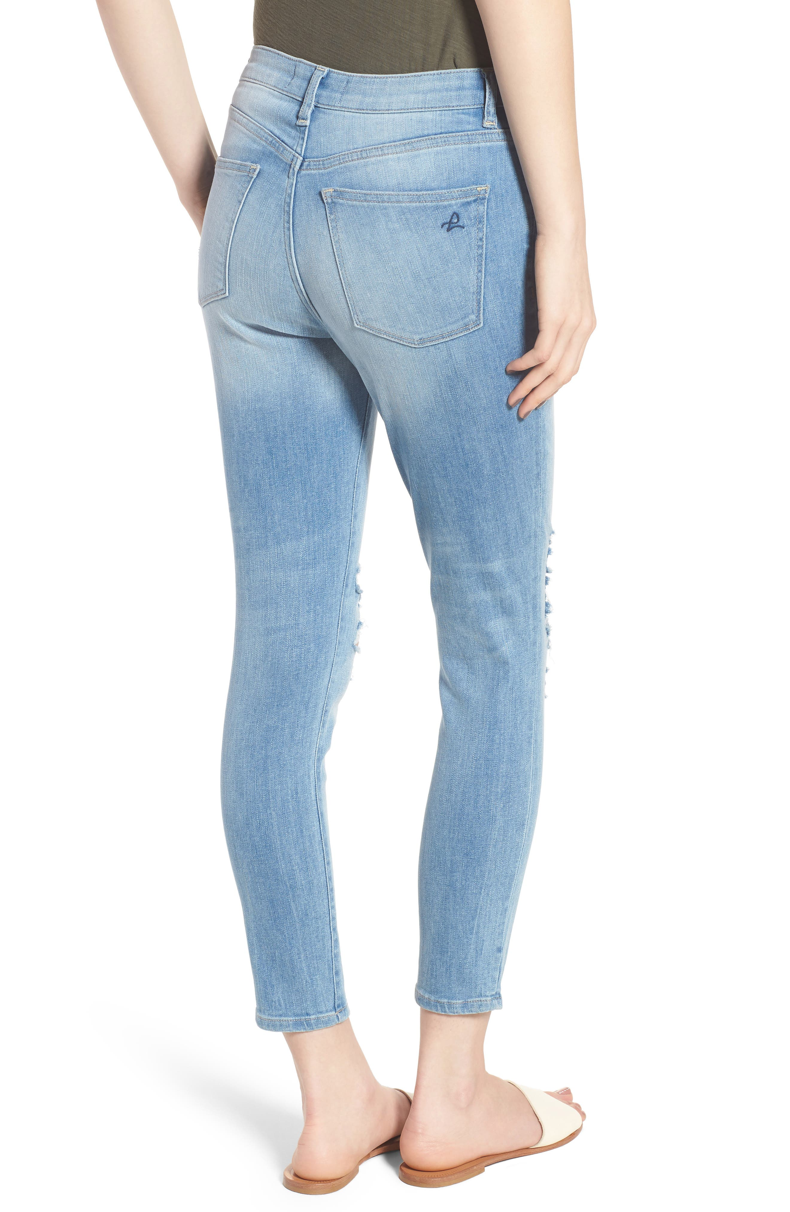 Chrissy Trimtone Ripped High Waist Skinny Jeans,                             Alternate thumbnail 2, color,                             430