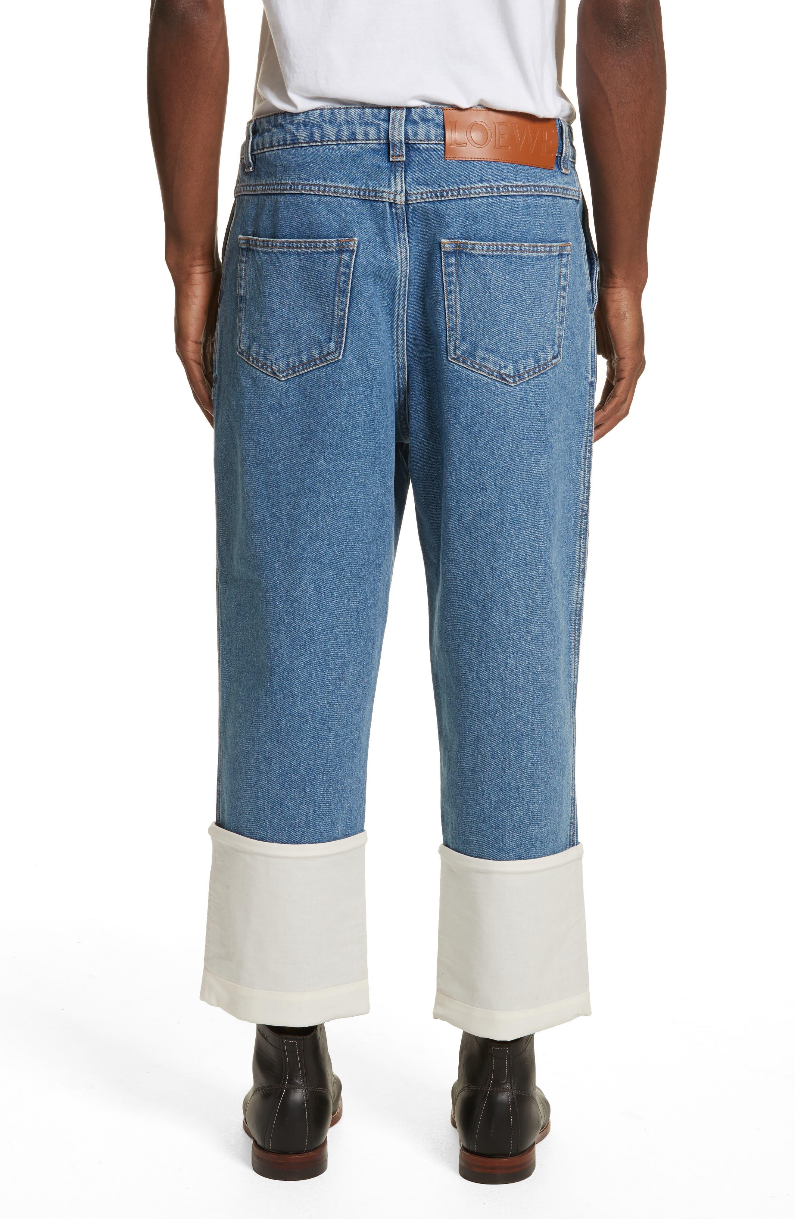 Fisherman Wide Leg Stonewash Jeans,                             Alternate thumbnail 2, color,                             BLUE