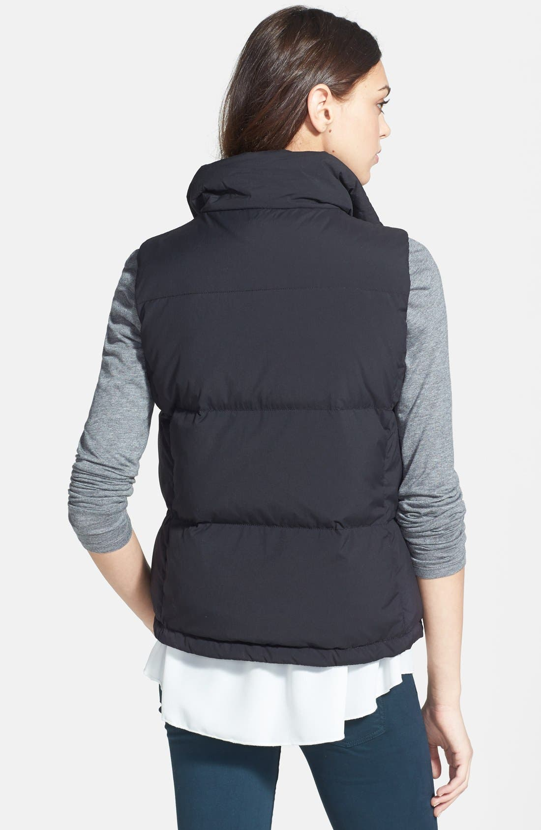 JAMES PERSE,                             Funnel Neck Down Vest,                             Alternate thumbnail 3, color,                             001