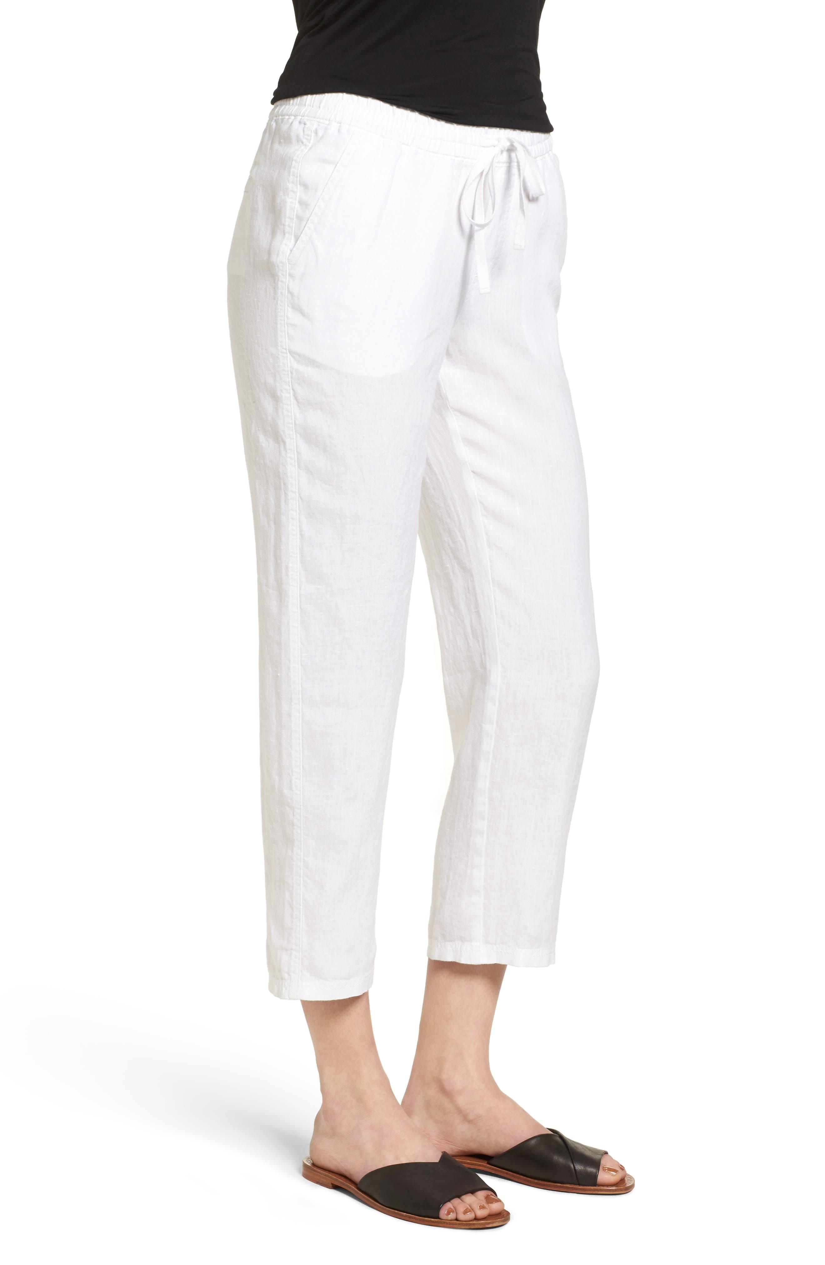 Linen Crop Pants,                             Alternate thumbnail 17, color,