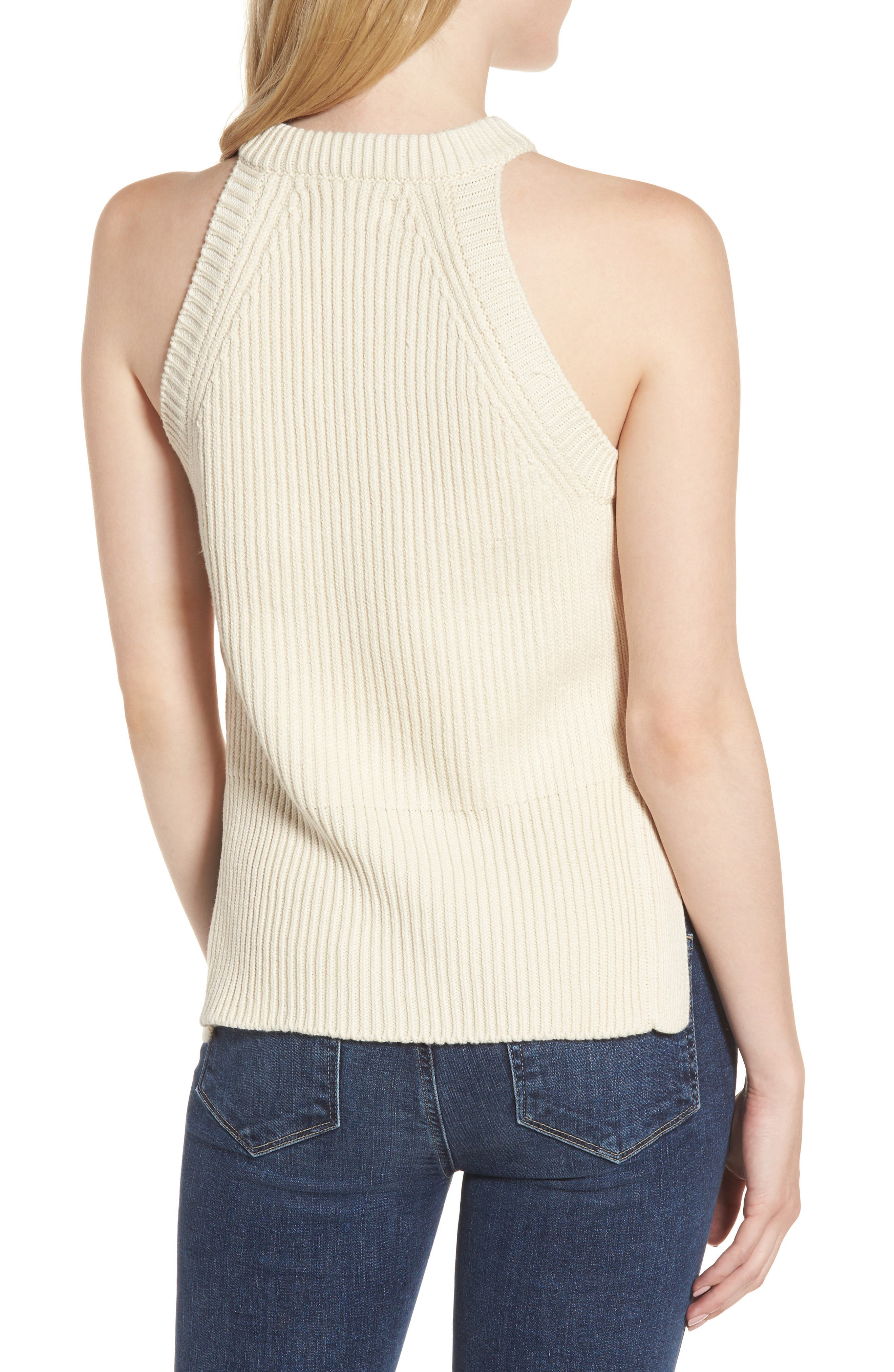 Sleeveless Cable Sweater,                             Alternate thumbnail 2, color,