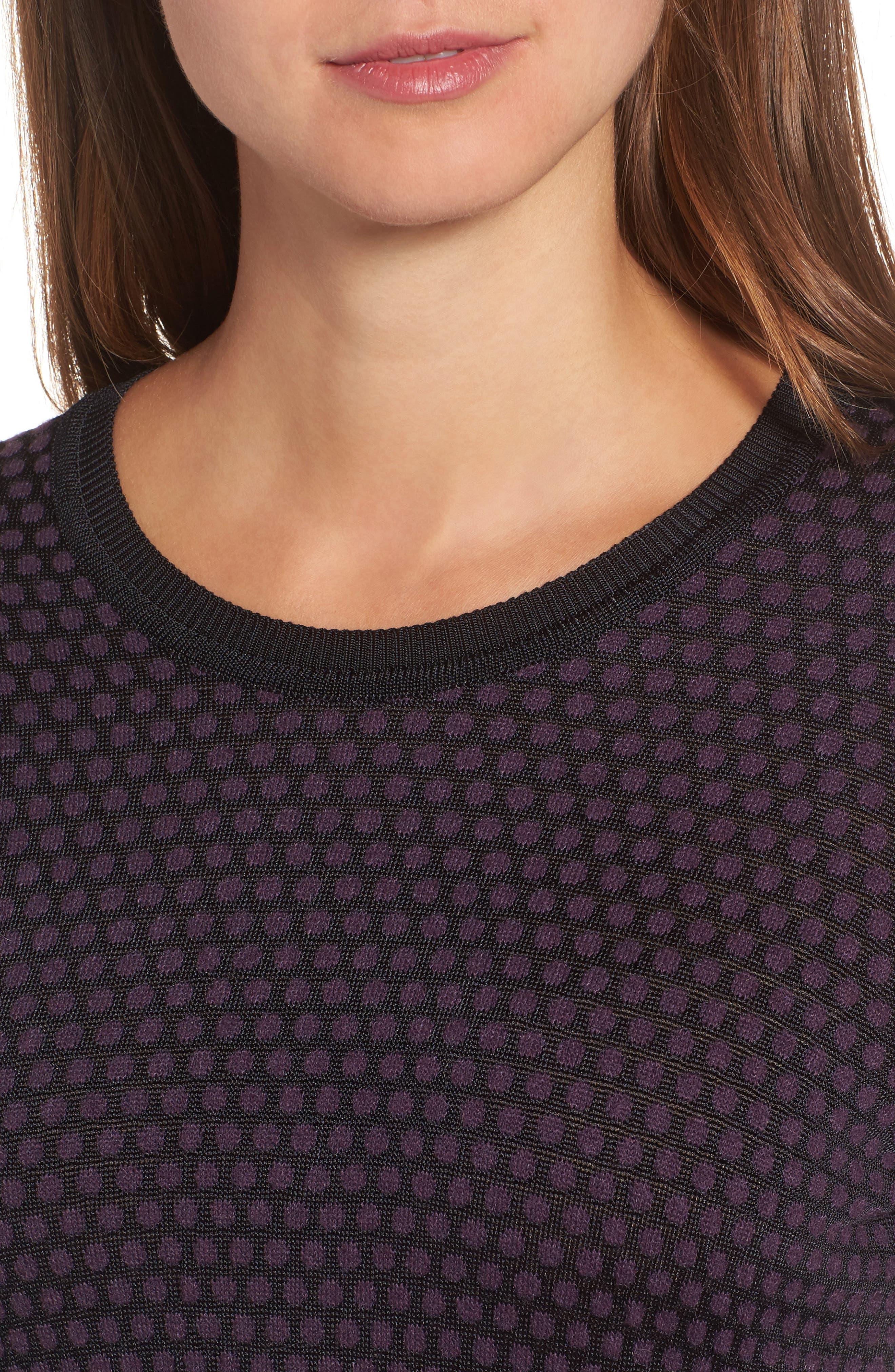 Dot Fielitza Jacquard Sweater,                             Alternate thumbnail 4, color,                             575