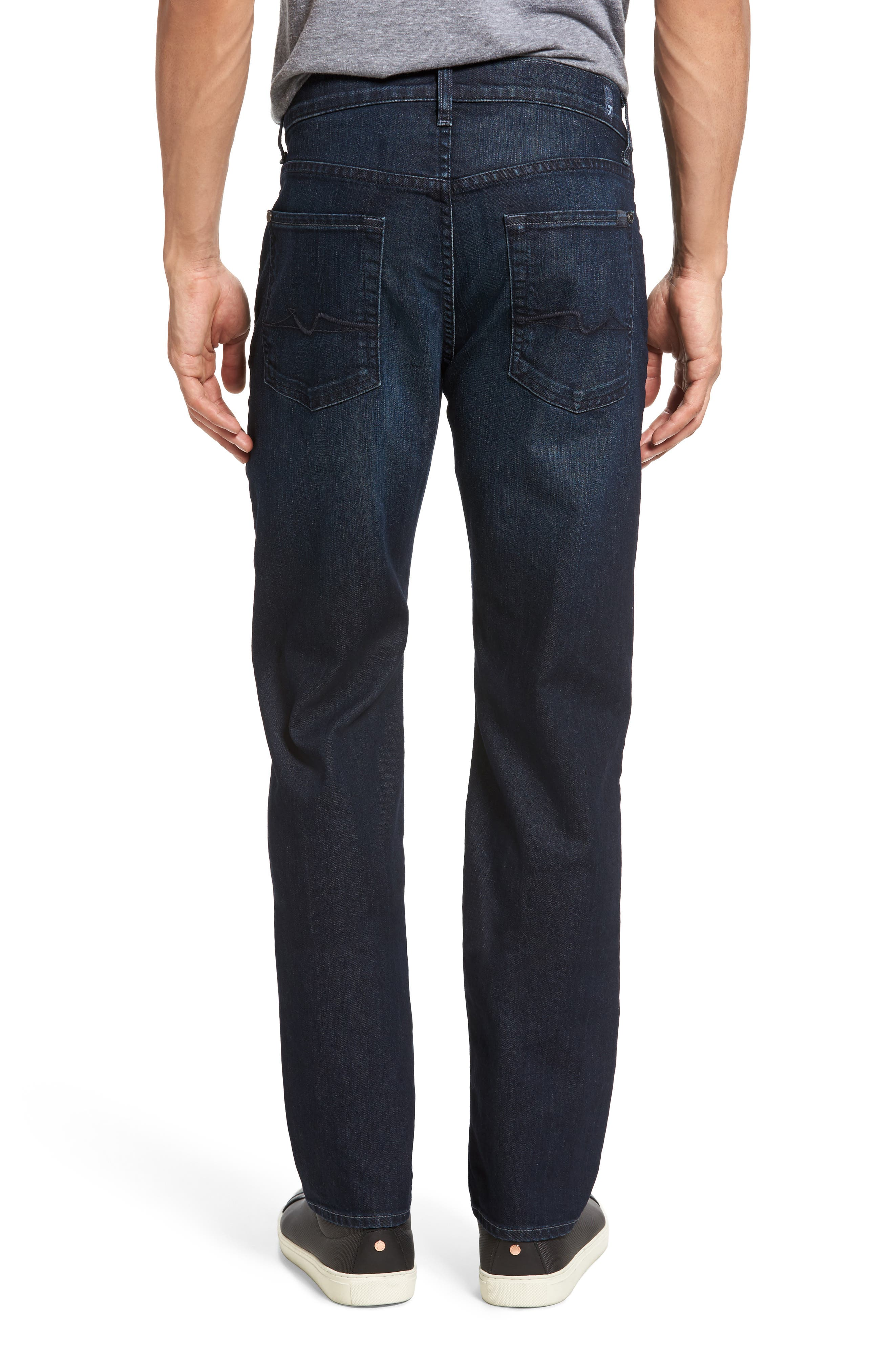 7 FOR ALL MANKIND<SUP>®</SUP>,                             The Straight Airweft Slim Straight Slim Leg Jeans,                             Alternate thumbnail 2, color,                             PERENNIAL