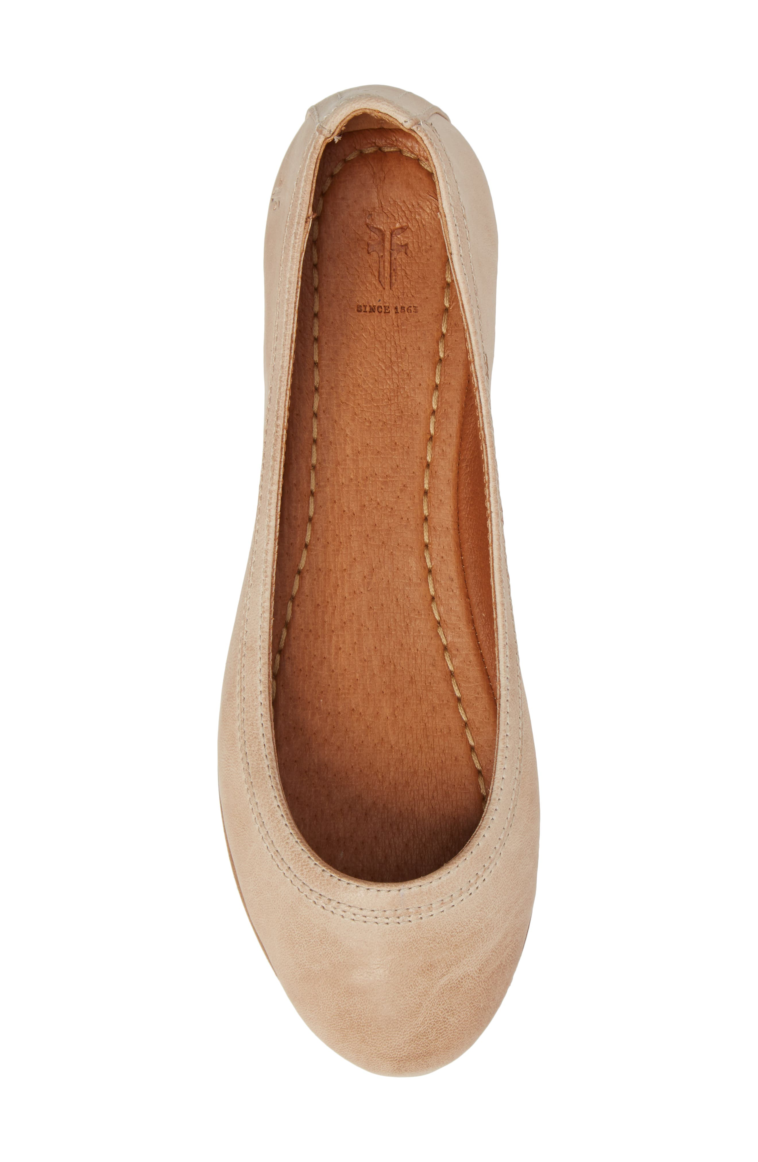 'Carson' Ballet Flat,                             Alternate thumbnail 6, color,                             CREAM LEATHER