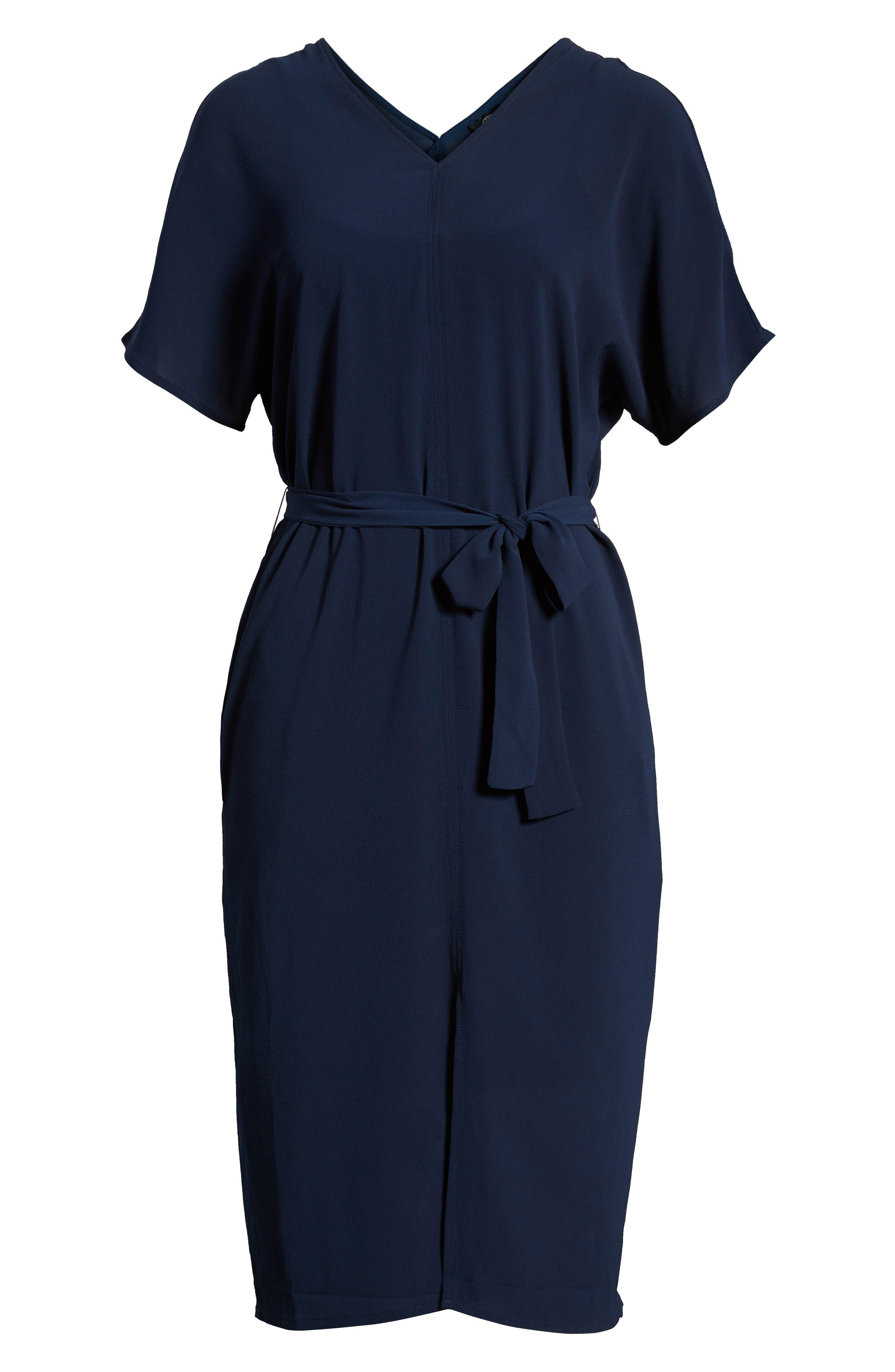Stretch Crepe Dress,                             Alternate thumbnail 28, color,
