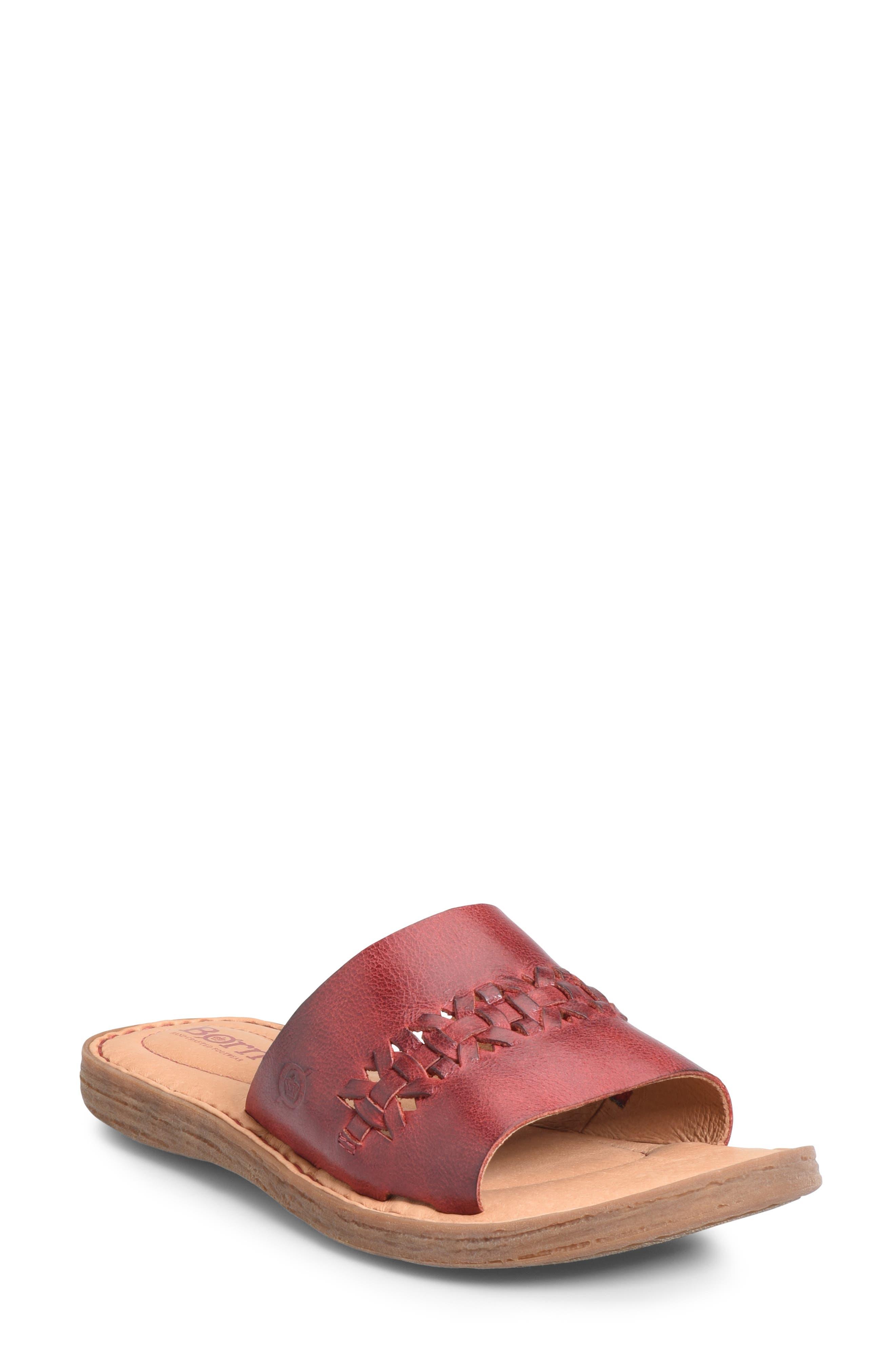 B?rn St. Francis Slide Sandal, Red