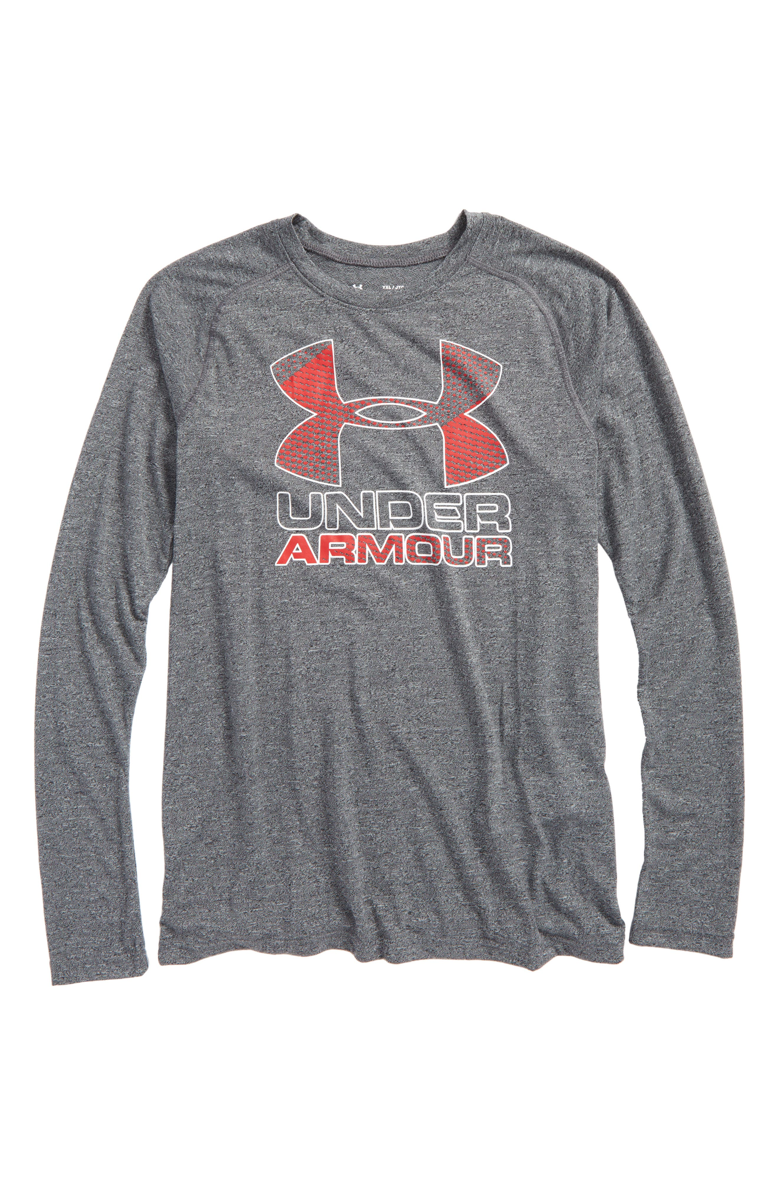 Logo Graphic HeatGear<sup>®</sup> T-Shirt,                         Main,                         color, 001