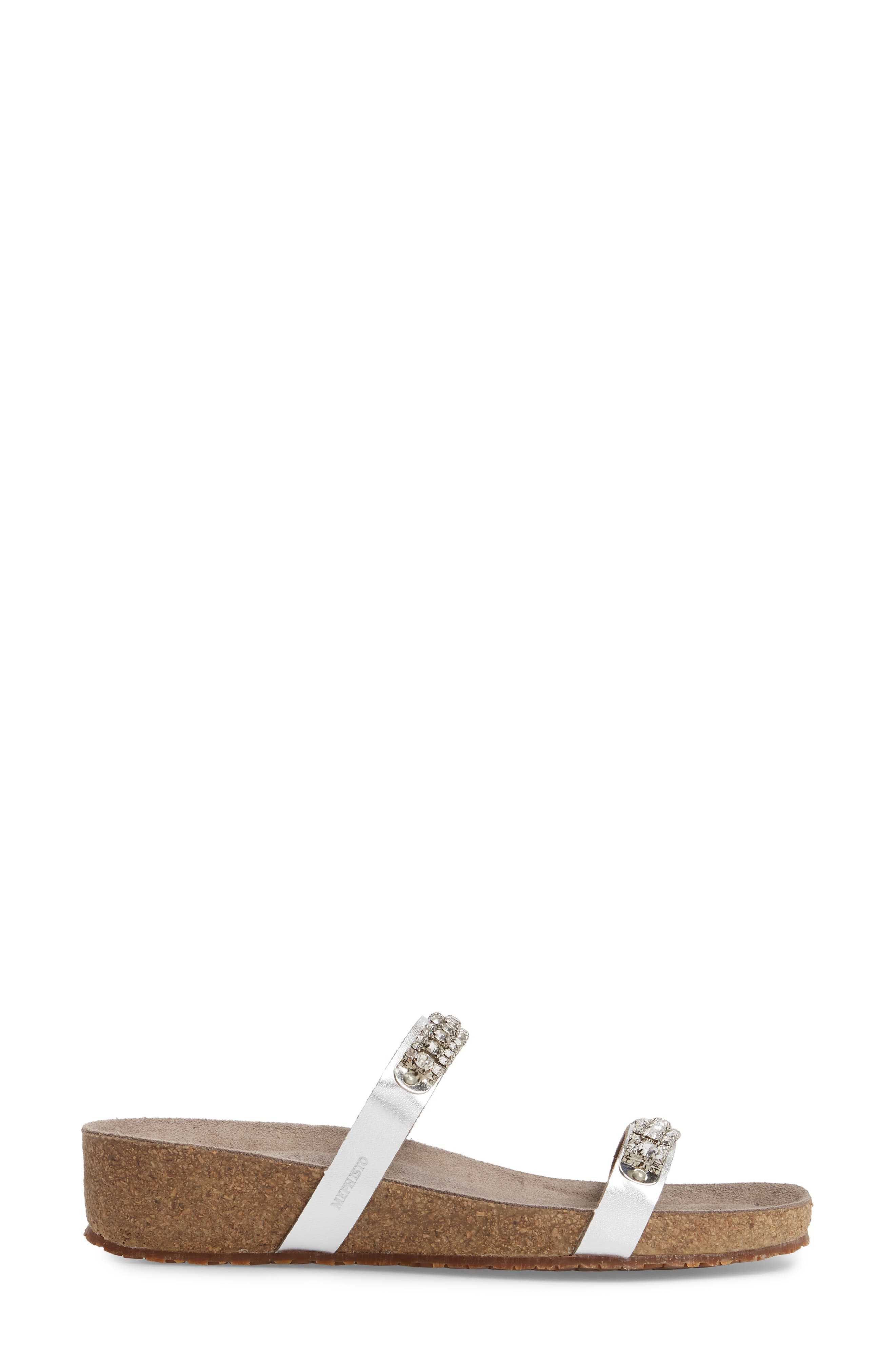 'Ivana' Crystal Embellished Slide Sandal,                             Alternate thumbnail 3, color,                             082