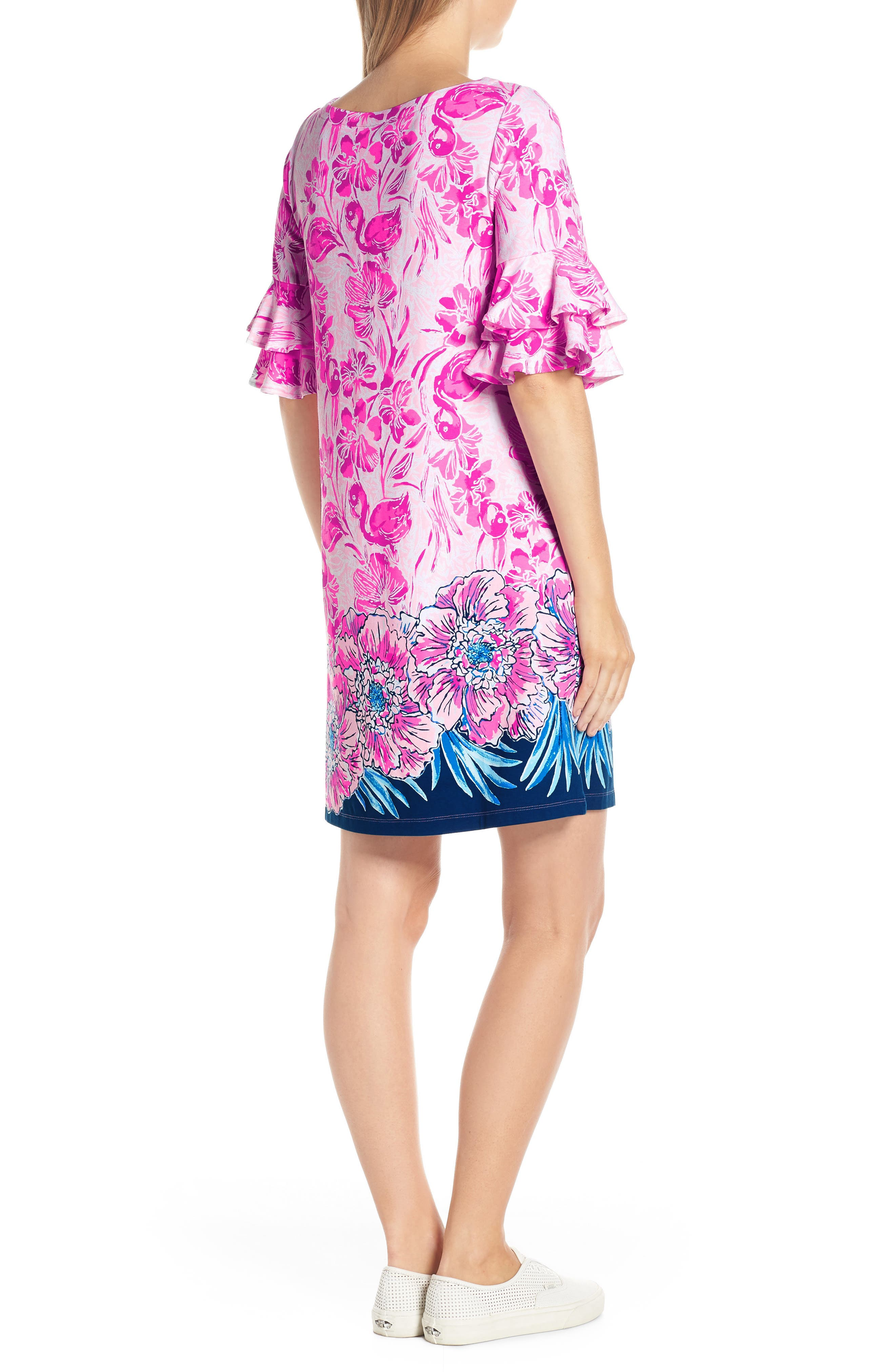 LILLY PULITZER<SUP>®</SUP>,                             Lula Shift Dress,                             Alternate thumbnail 2, color,                             CORAL REEF TINT FLAMINGLE