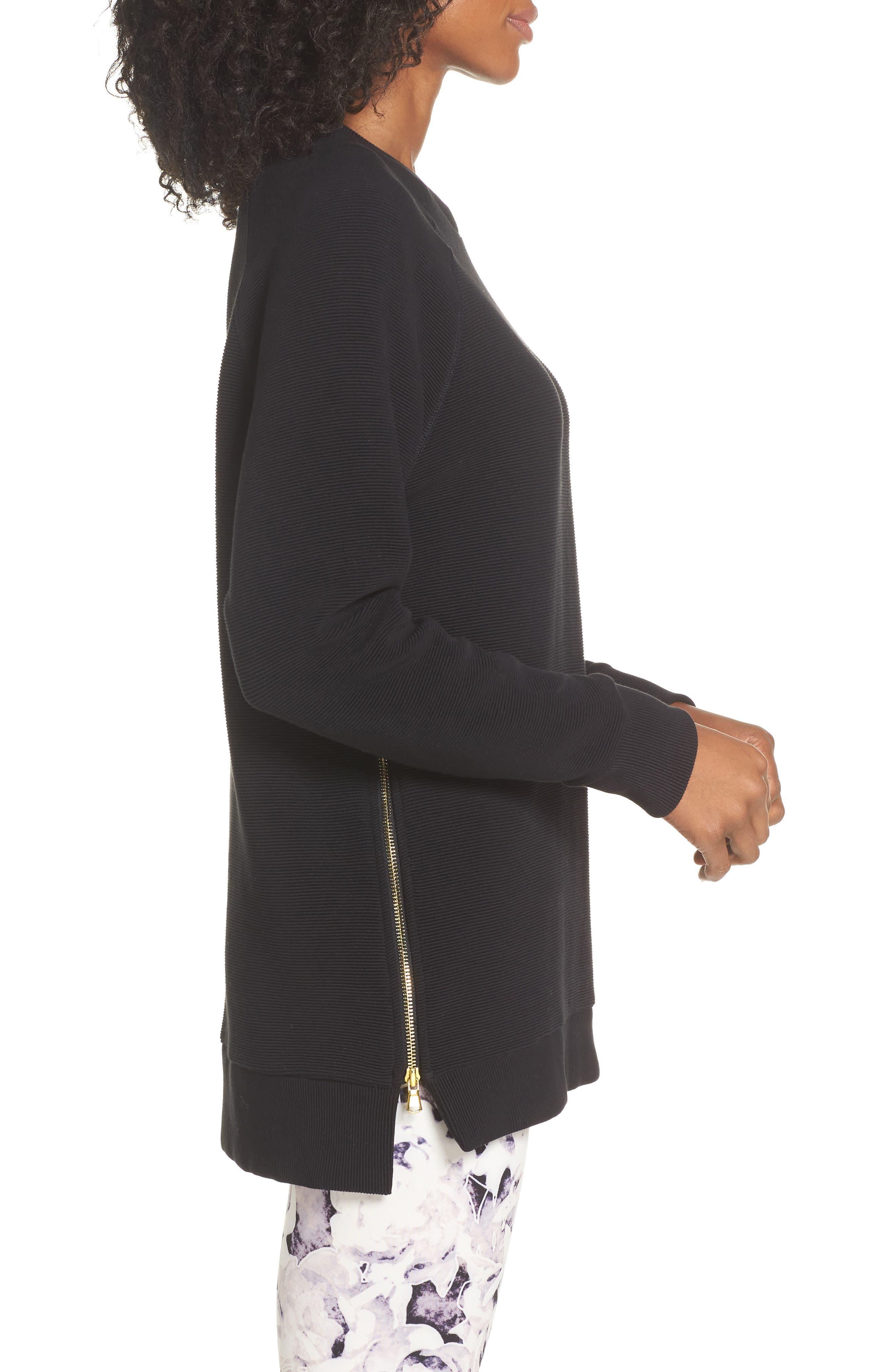 Manning Sweatshirt,                             Alternate thumbnail 3, color,                             BLACK RIB