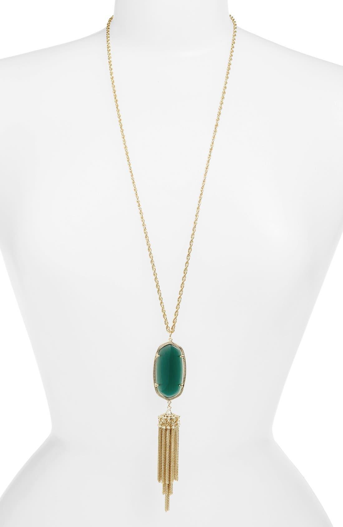 Rayne Stone Tassel Pendant Necklace,                             Main thumbnail 8, color,