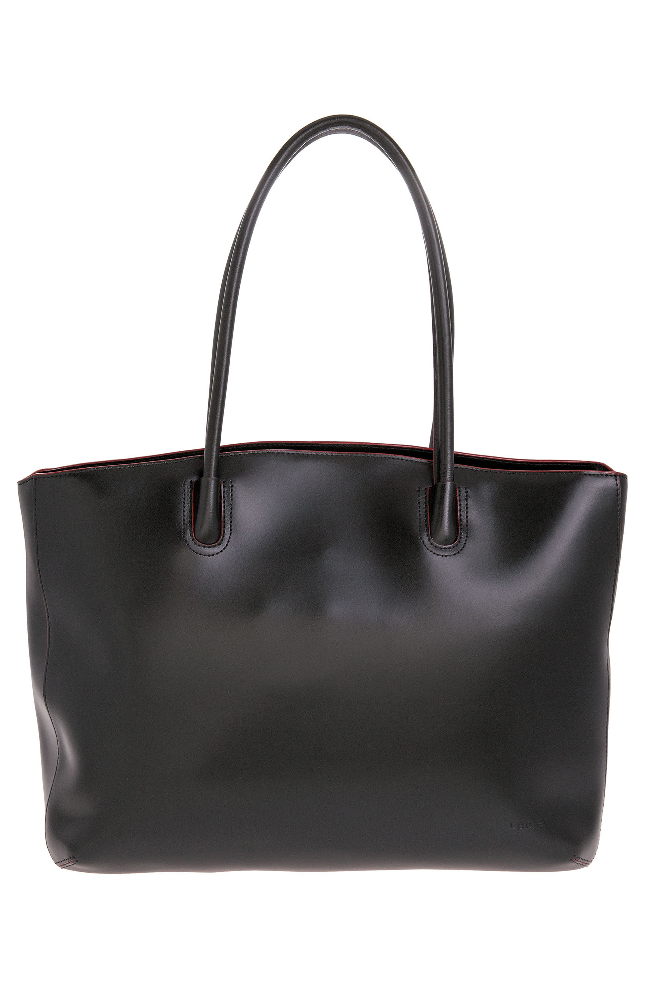 Lodis 'Audrey - Milano' Leather Computer Tote,                             Alternate thumbnail 2, color,                             001