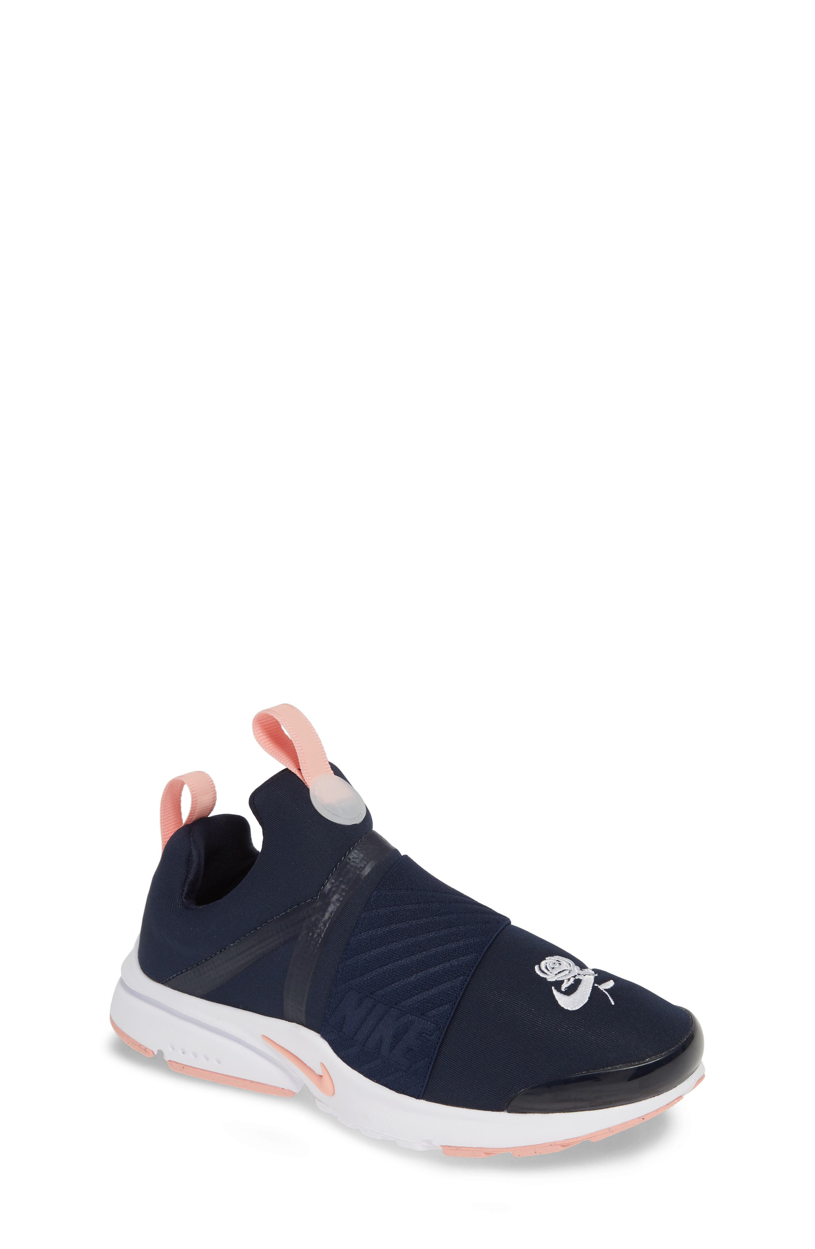 NIKE,                             Presto Extreme VDAY Sneaker,                             Main thumbnail 1, color,                             OBSIDIAN/ BLEACHED CORAL-WHITE