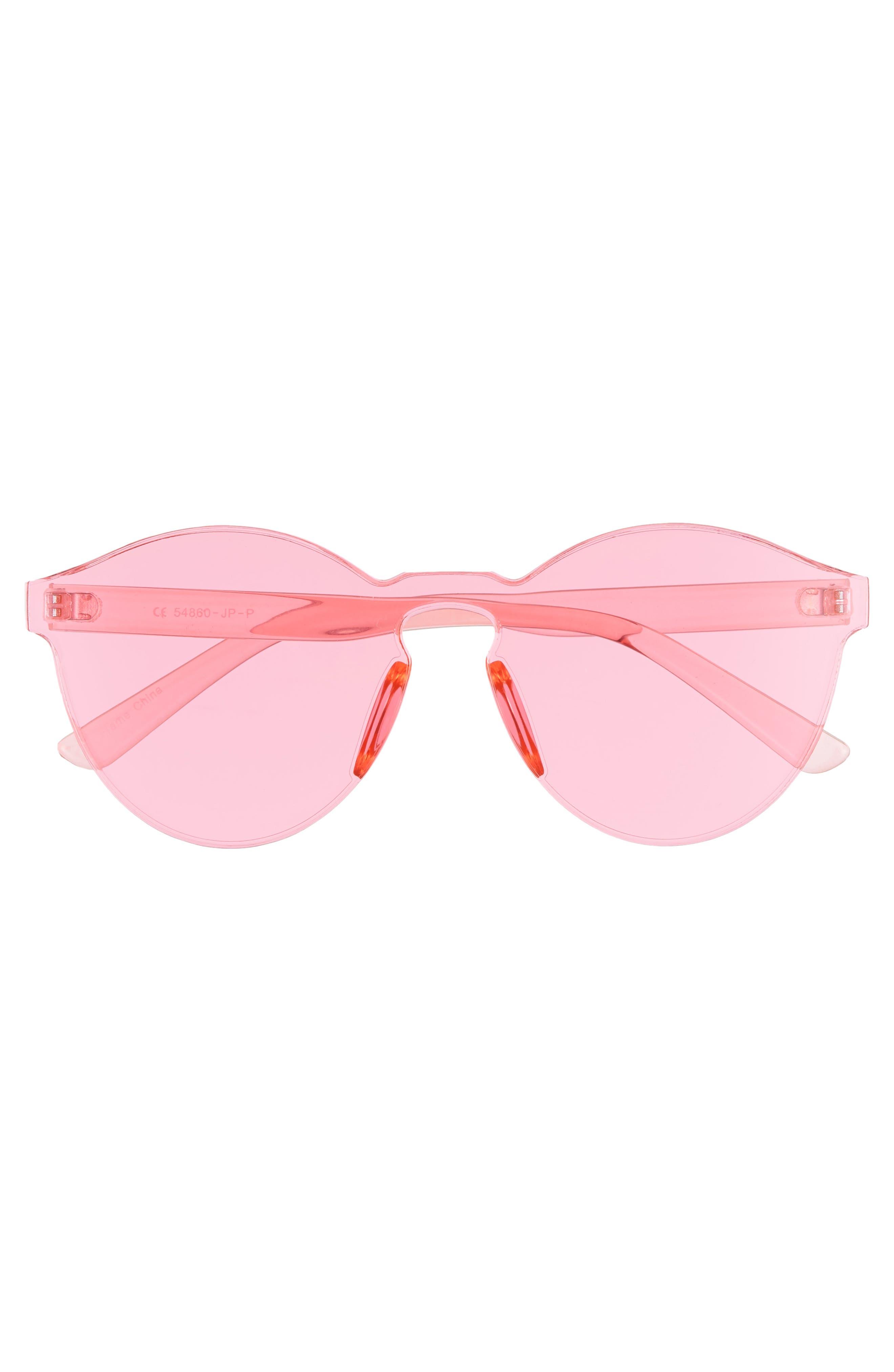 59mm Rimless Round Sunglasses,                             Alternate thumbnail 3, color,                             650