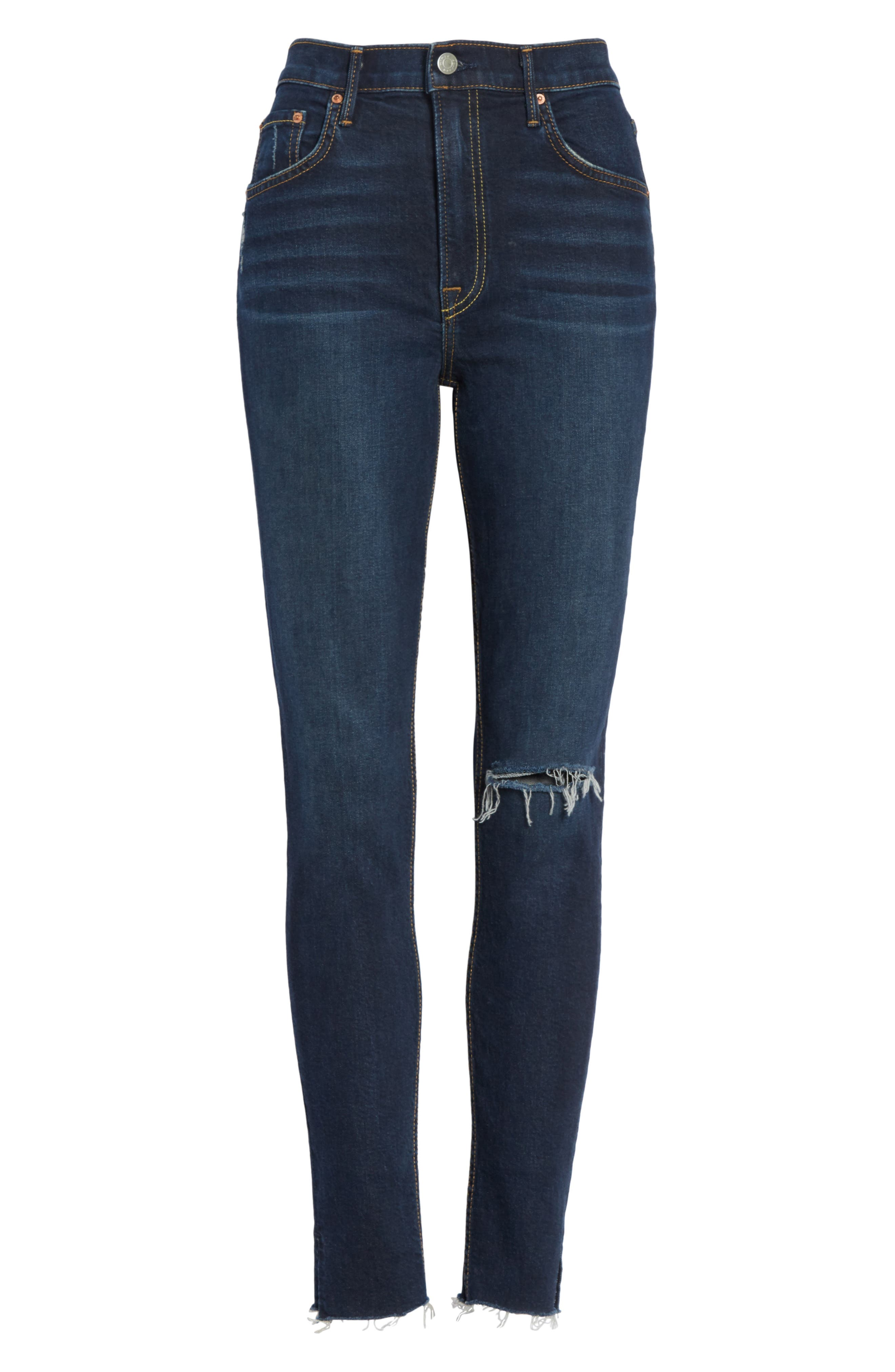 Kendall Super Stretch High Waist Skinny Jeans,                             Alternate thumbnail 6, color,                             478