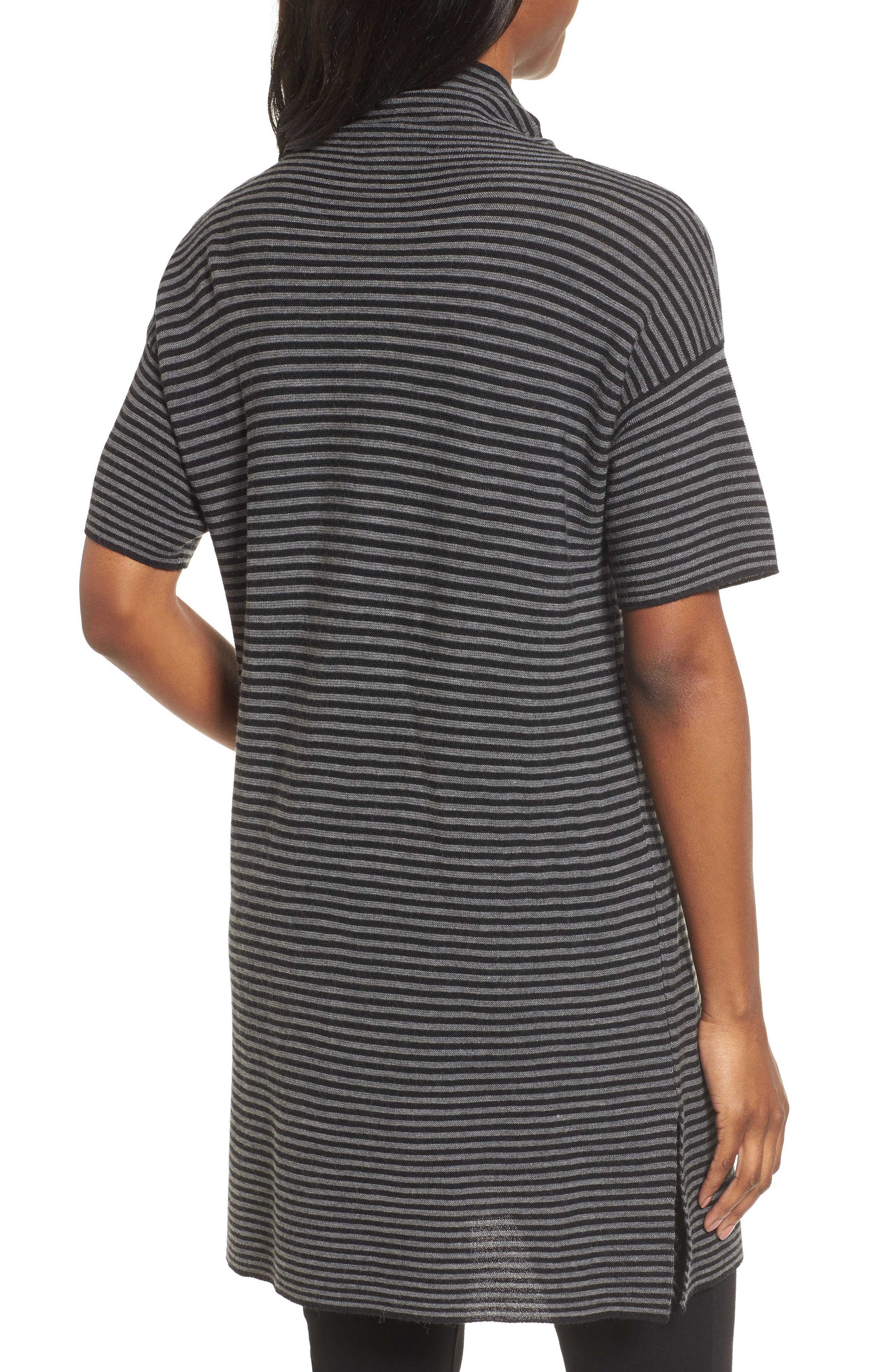 Stripe Merino Wool Tunic,                             Alternate thumbnail 2, color,                             028