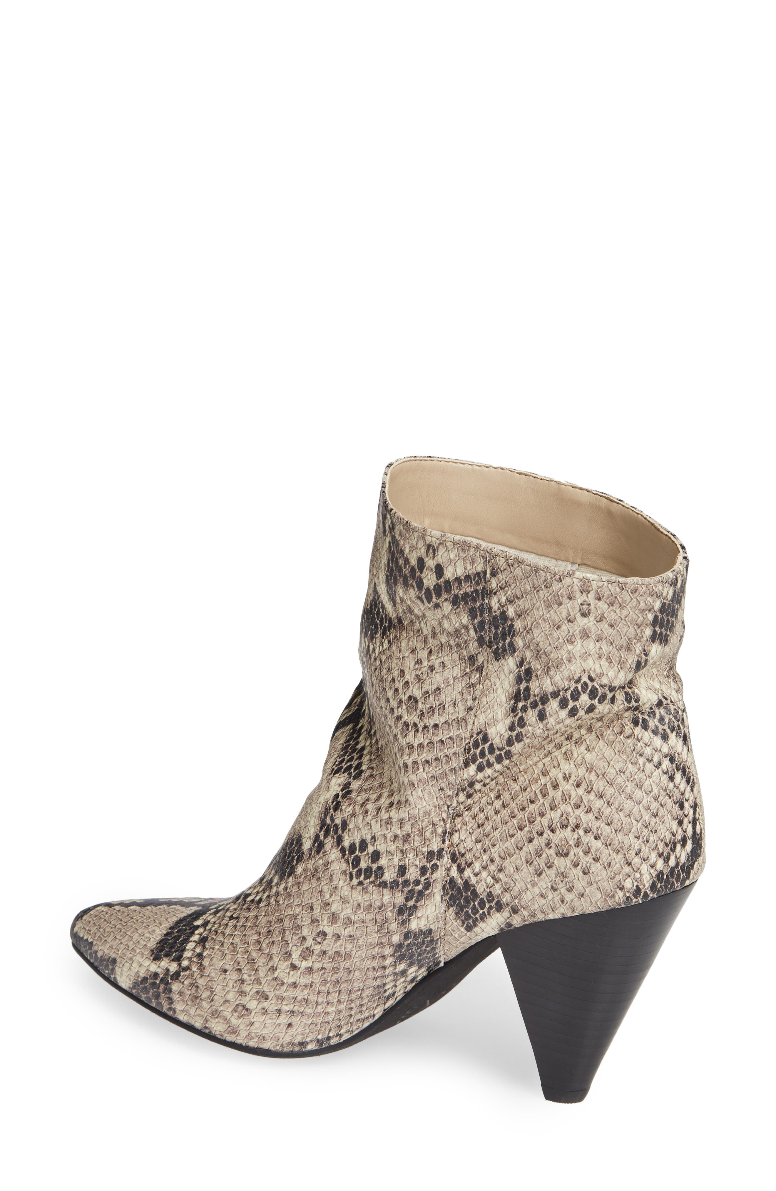 Scope Bootie,                             Alternate thumbnail 2, color,                             PRINTED NATURAL SNAKE LEATHER