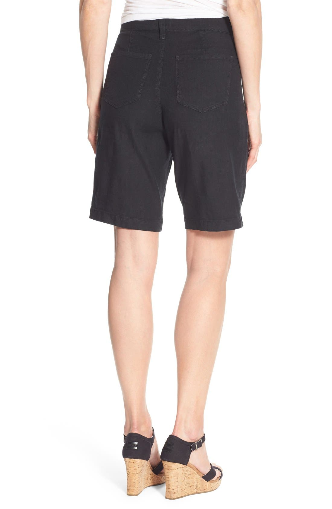 Catherine Linen Blend Bermuda Shorts,                             Alternate thumbnail 2, color,                             001