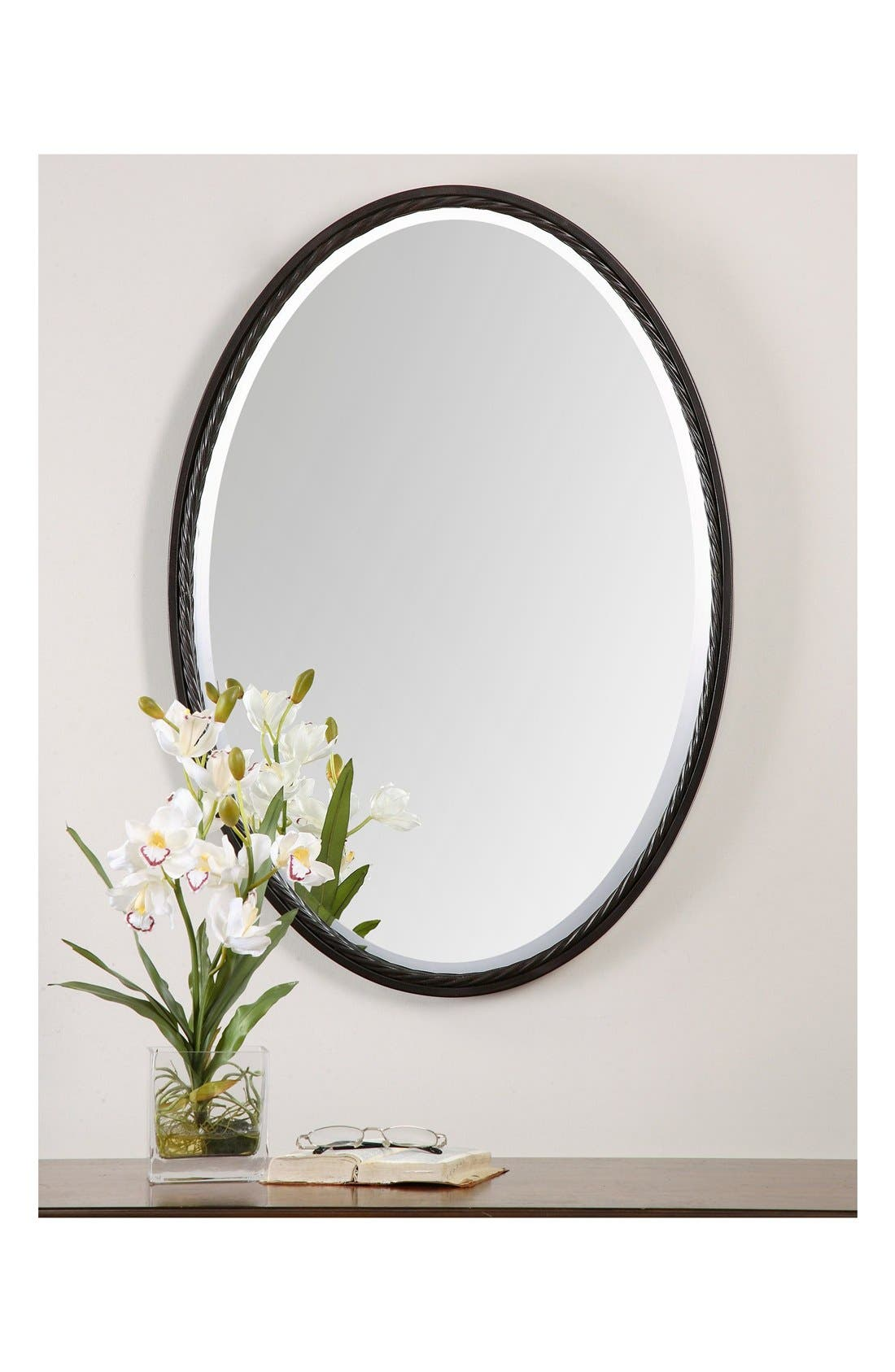 'Casalina' Oval Mirror,                             Alternate thumbnail 9, color,
