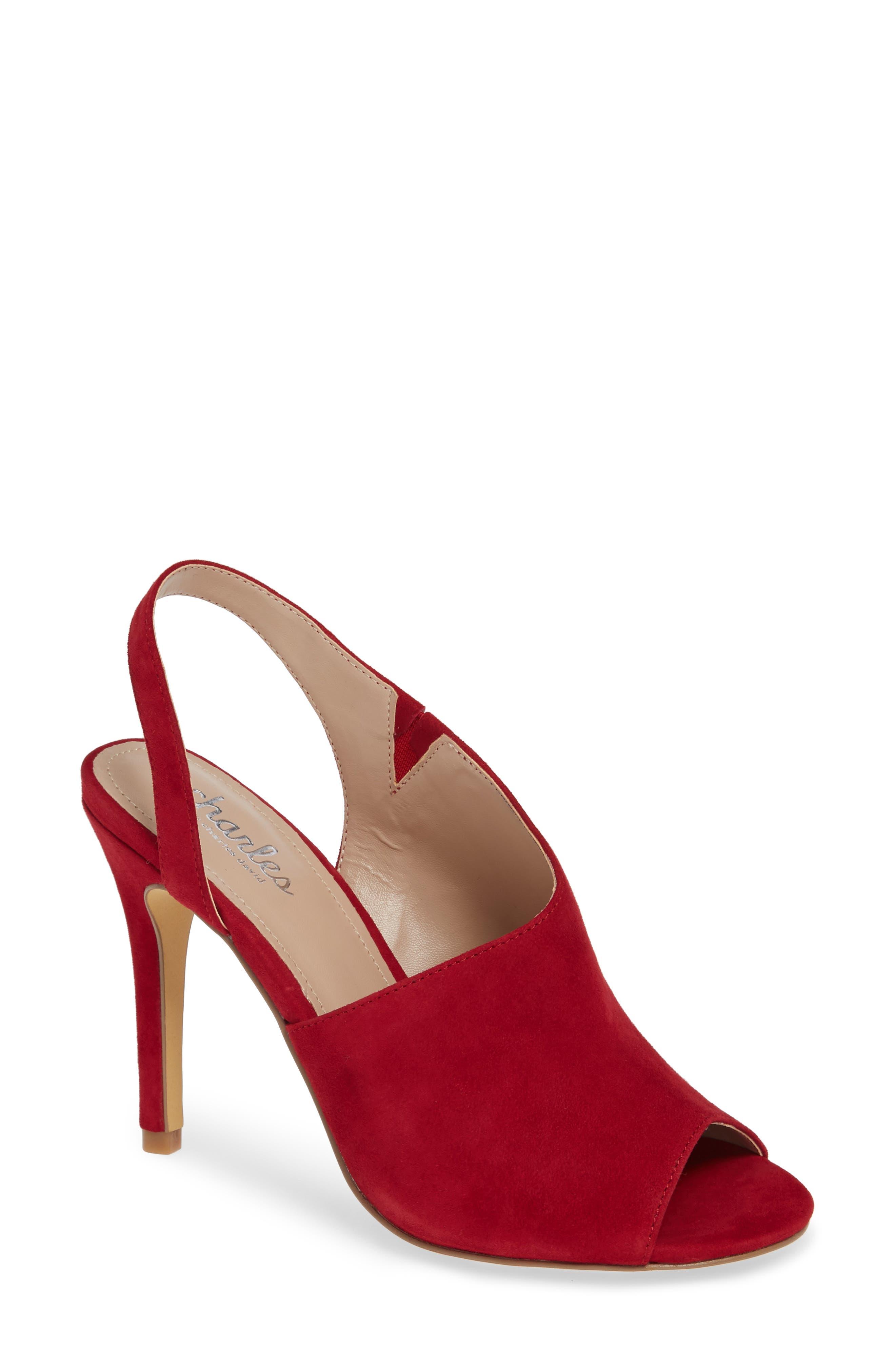 Charles By Charles David Riot Slingback Sandal- Red