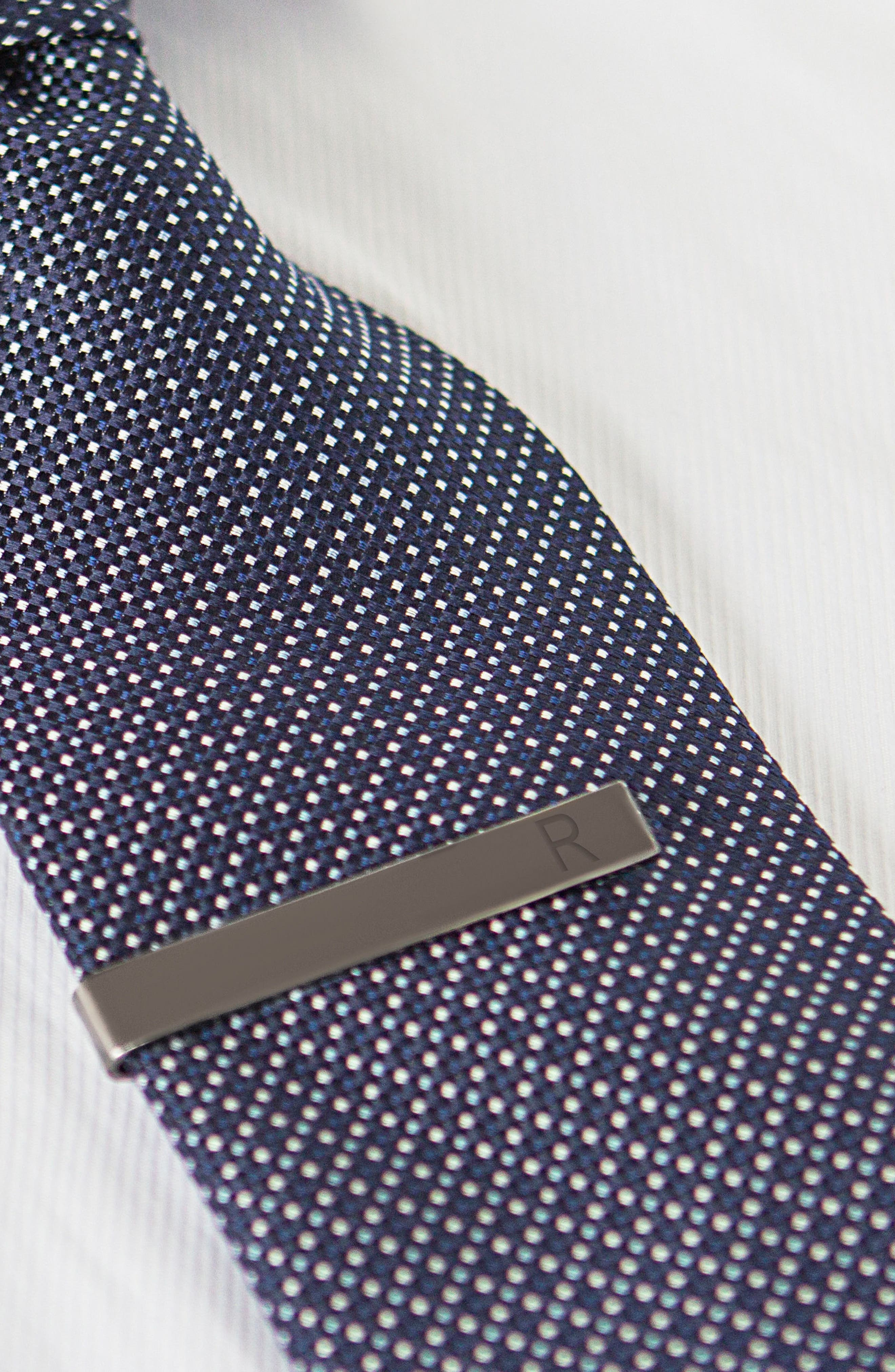 Monogram Tie Clip,                             Alternate thumbnail 5, color,                             GREY