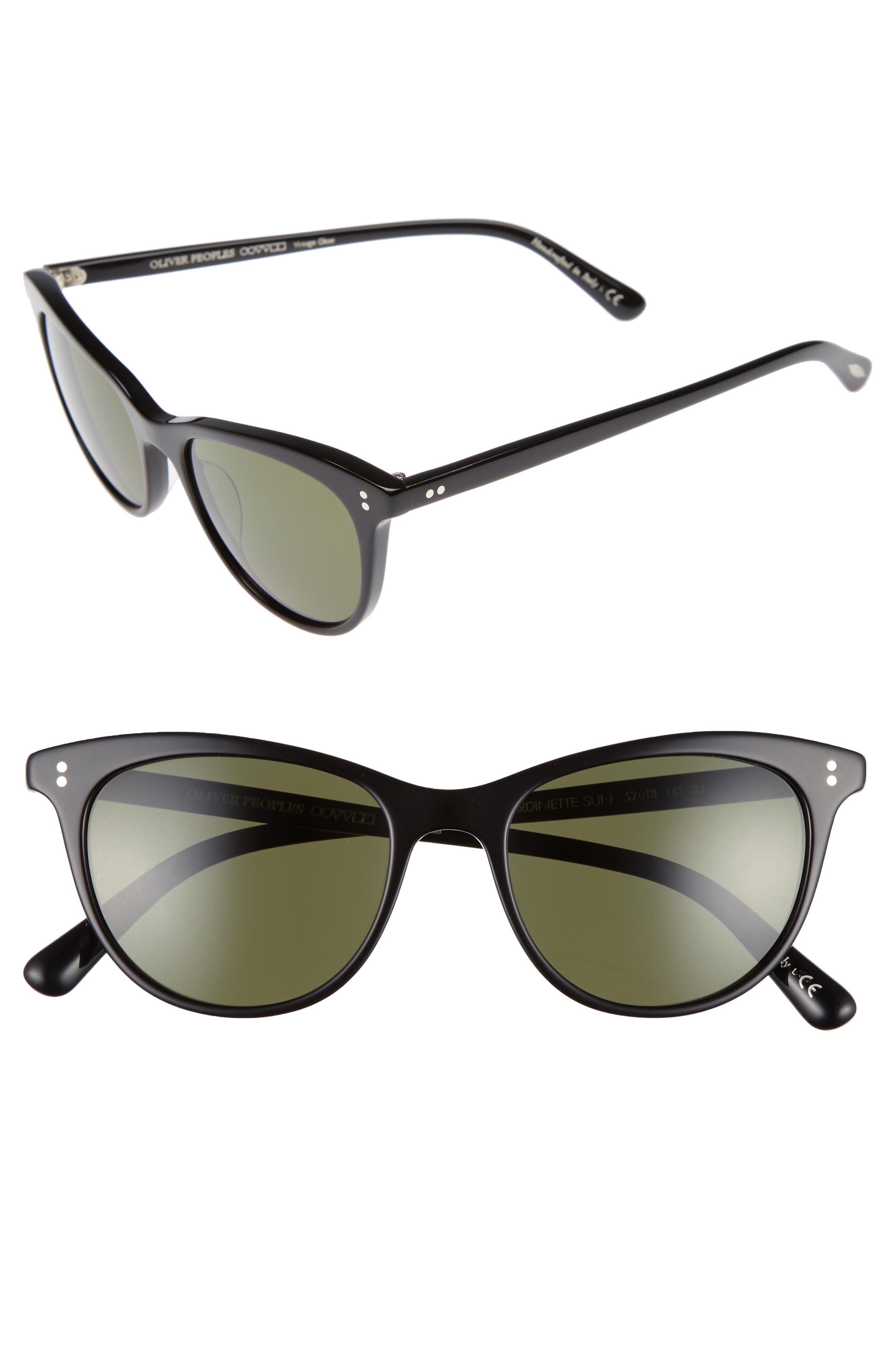 Jardinette 52mm Cat Eye Sunglasses, Main, color, 001