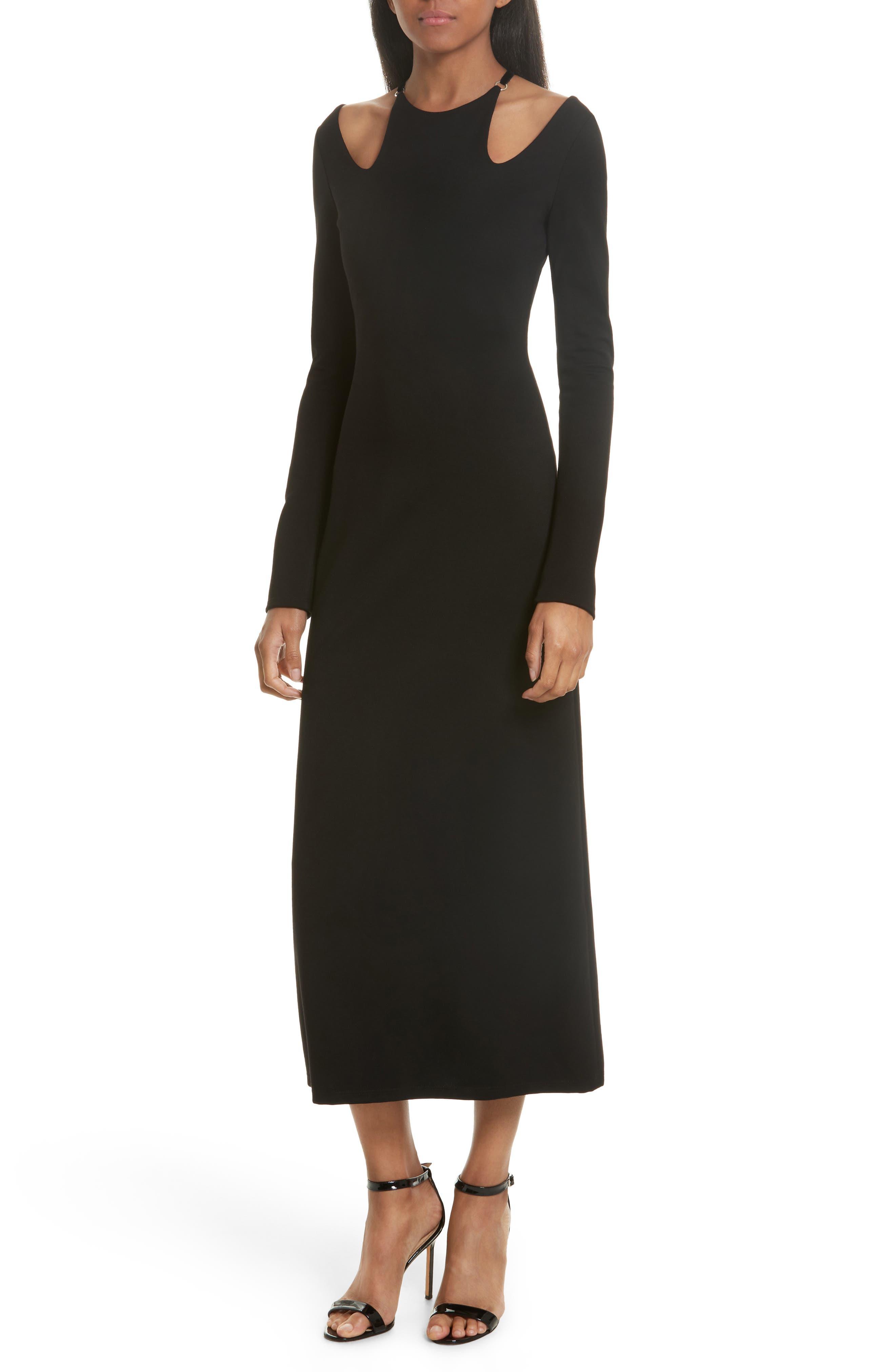 Jessa Cutout Midi Dress,                             Main thumbnail 1, color,                             001