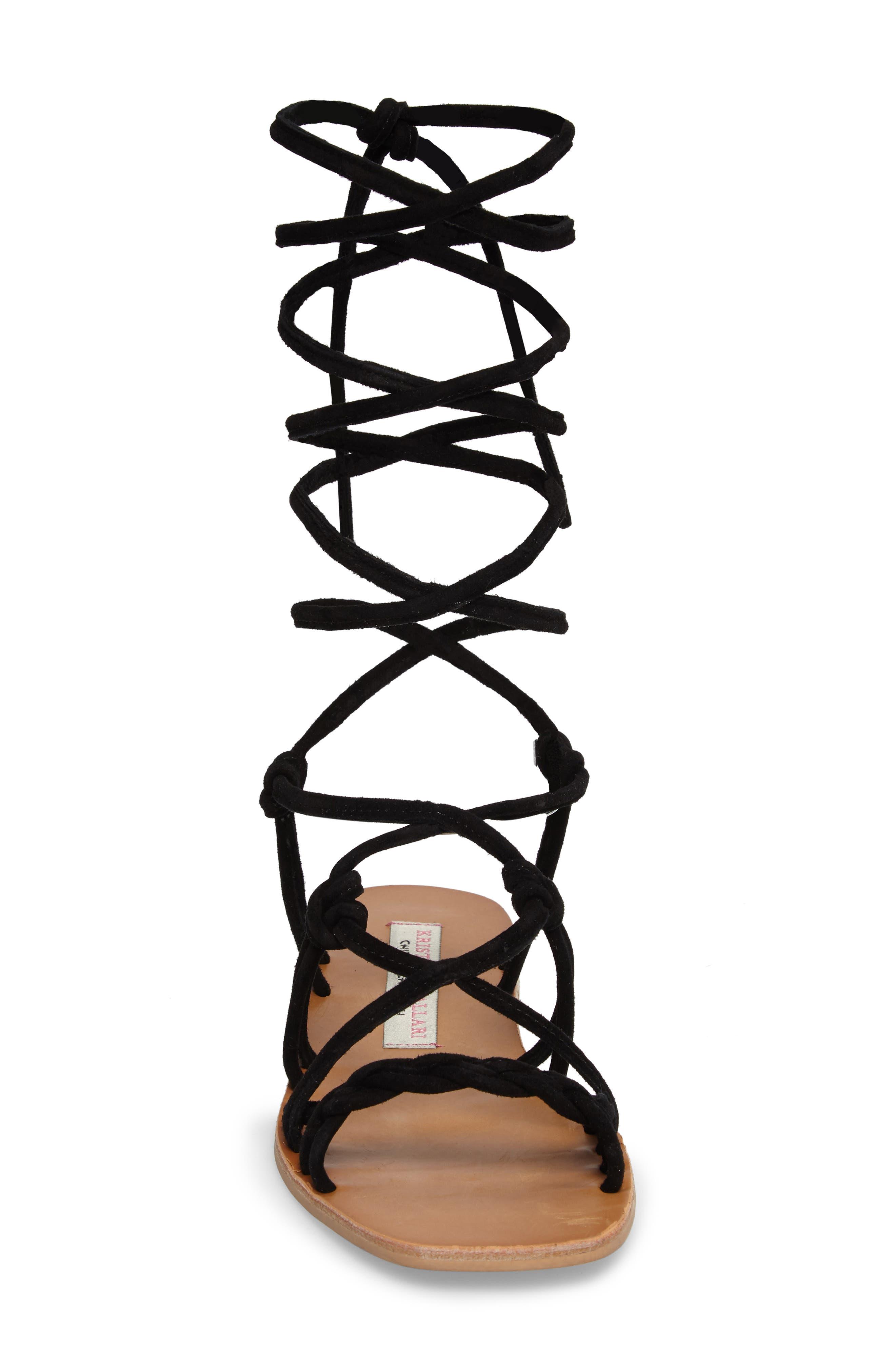 KRISTIN CAVALLARI,                             Tori Knotted Wraparound Sandal,                             Alternate thumbnail 4, color,                             001