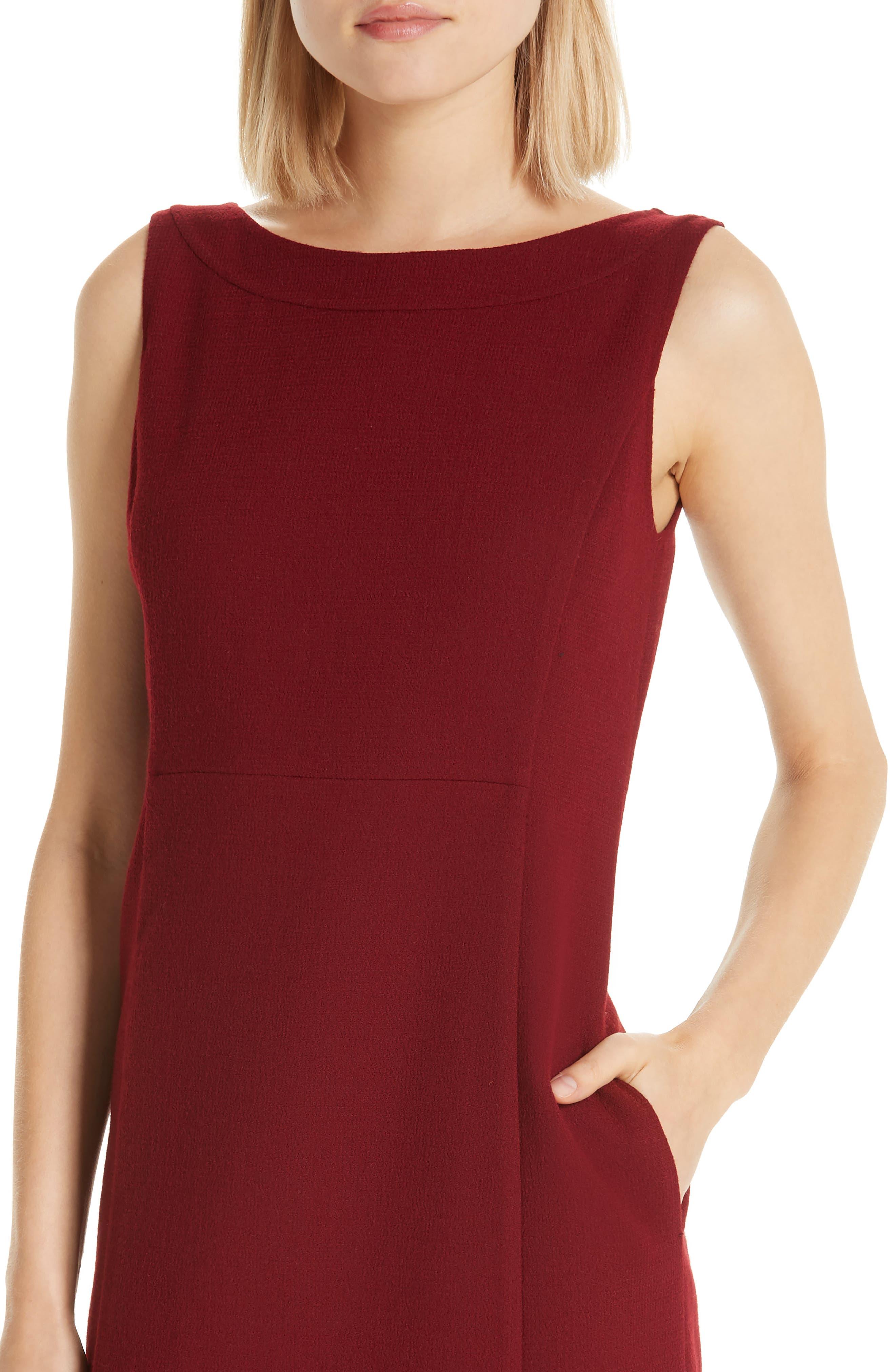 Paxton Sheath Dress,                             Alternate thumbnail 4, color,                             SCARLET