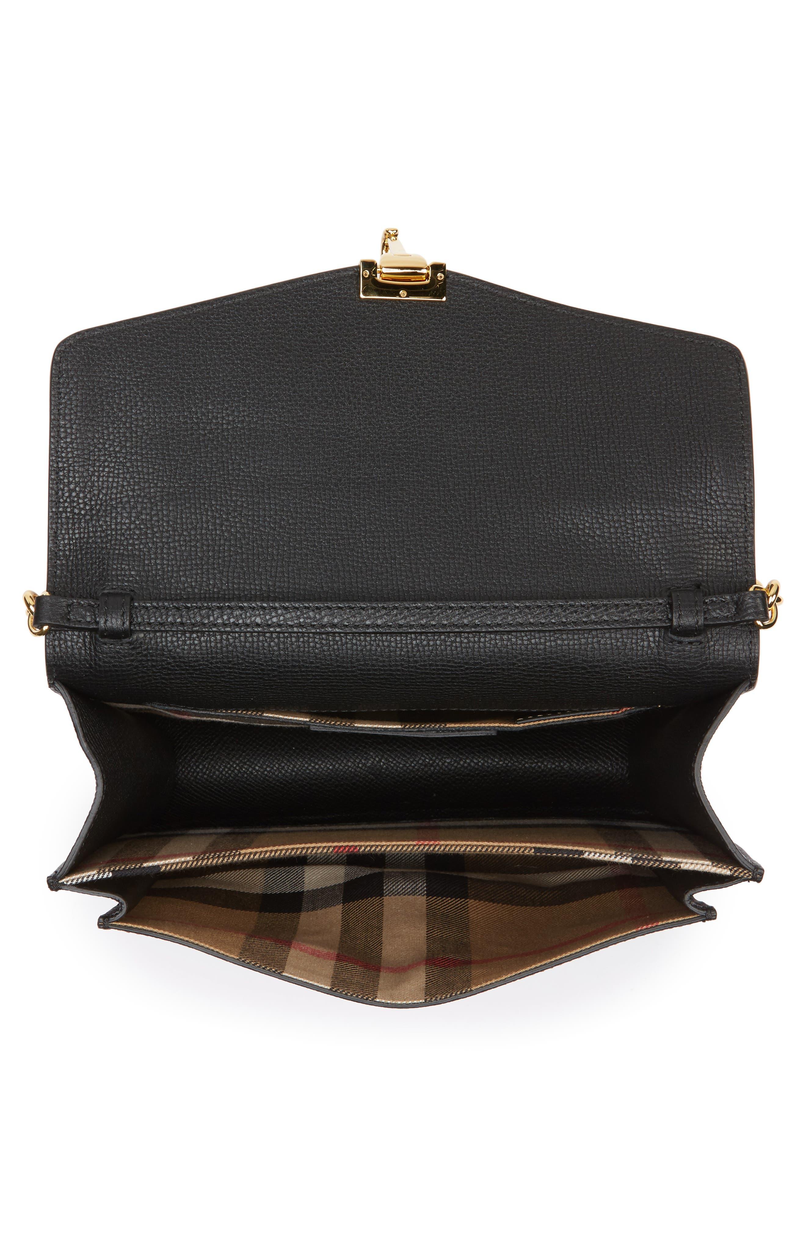 Macken Leather Crossbody Bag,                             Alternate thumbnail 4, color,                             001