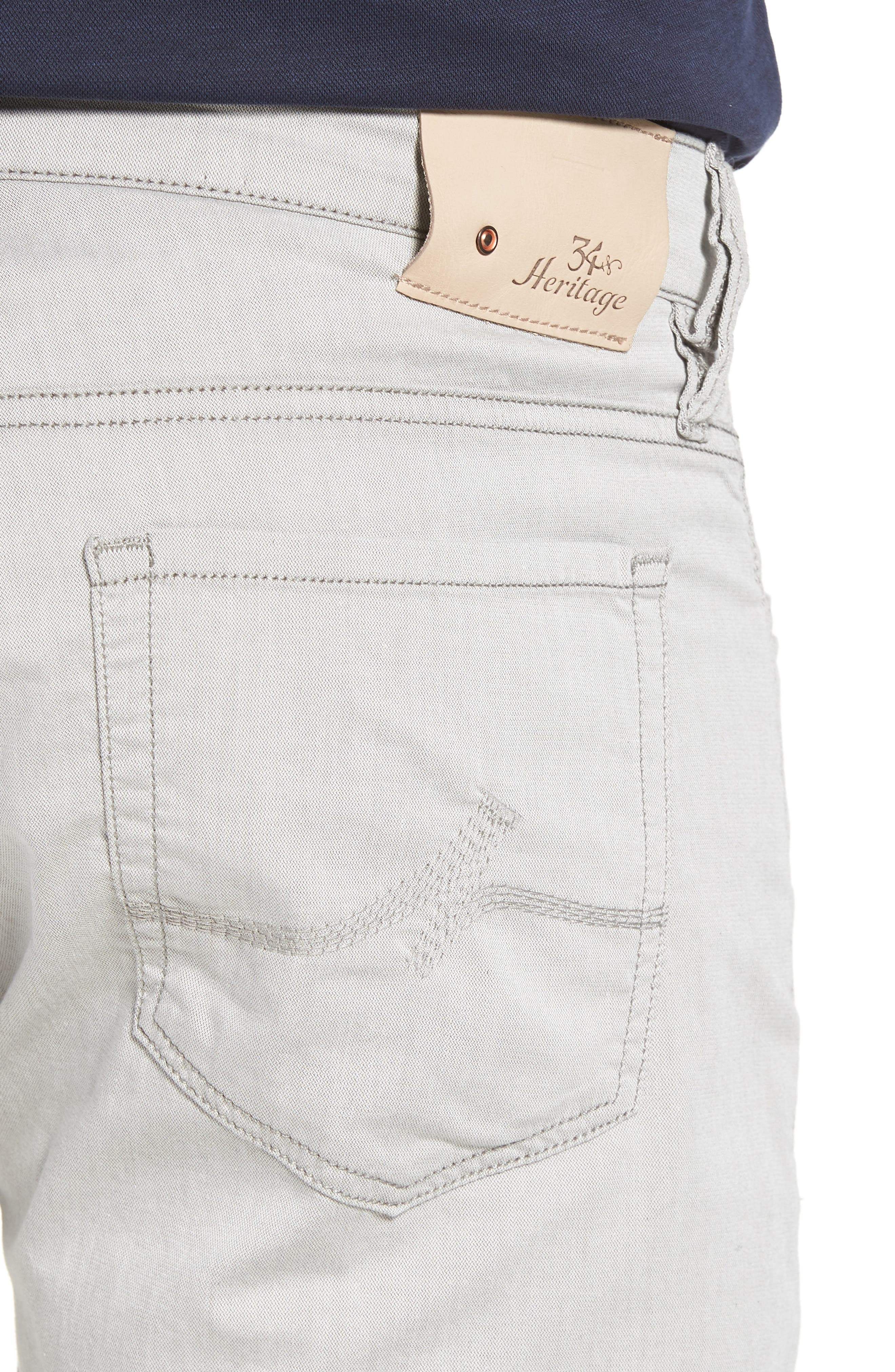 Courage Straight Leg Jeans,                             Alternate thumbnail 4, color,                             LATTE HERRINGBONE REVERSED