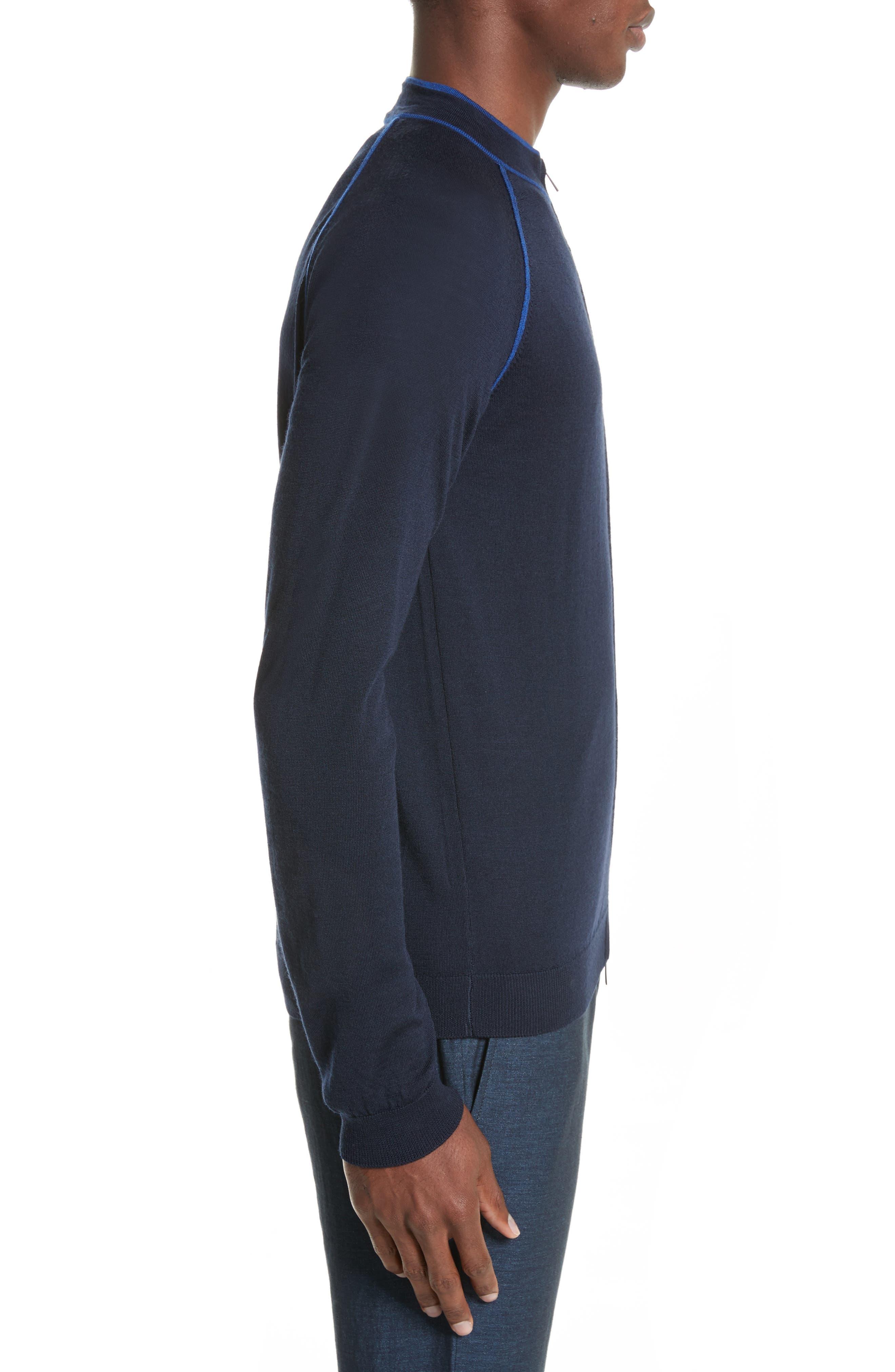 Zip Front Raglan Sweatshirt,                             Alternate thumbnail 3, color,                             414
