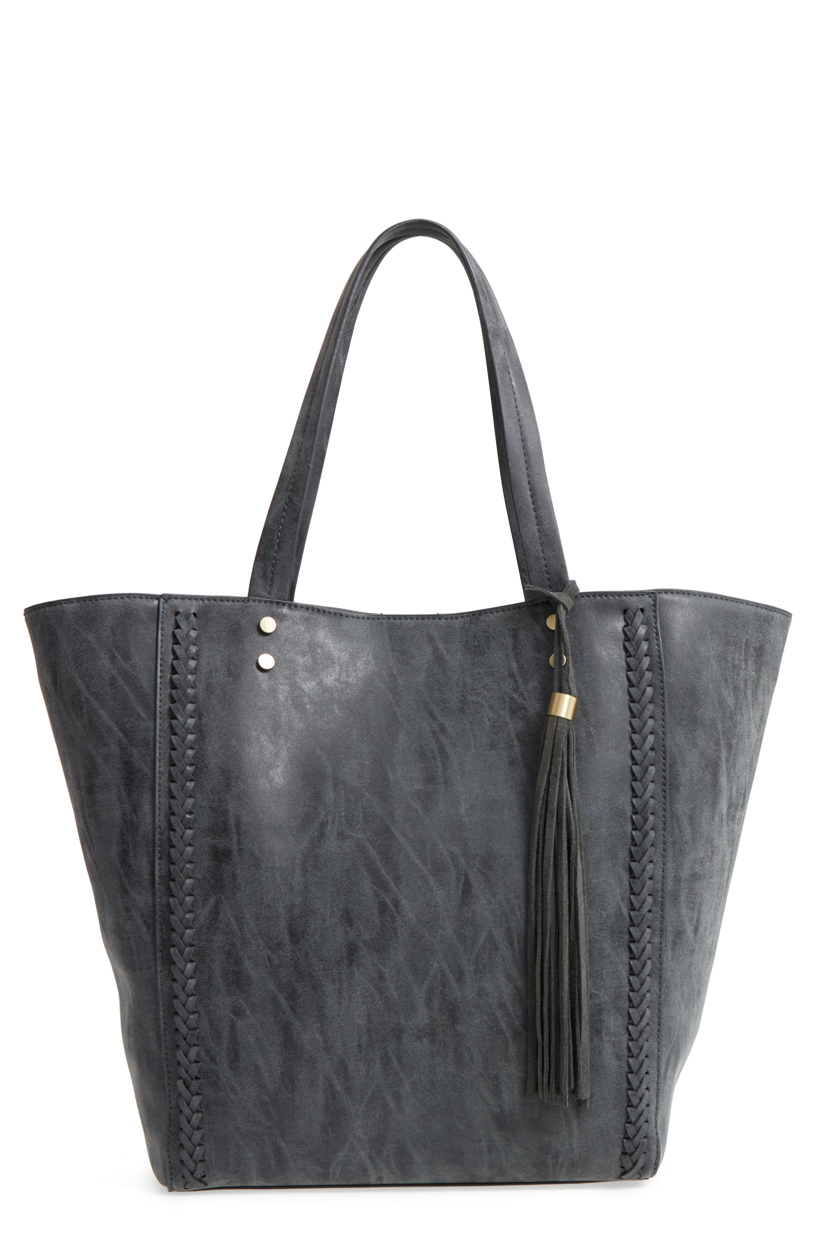 Penny Faux Leather Tote,                         Main,                         color, 001