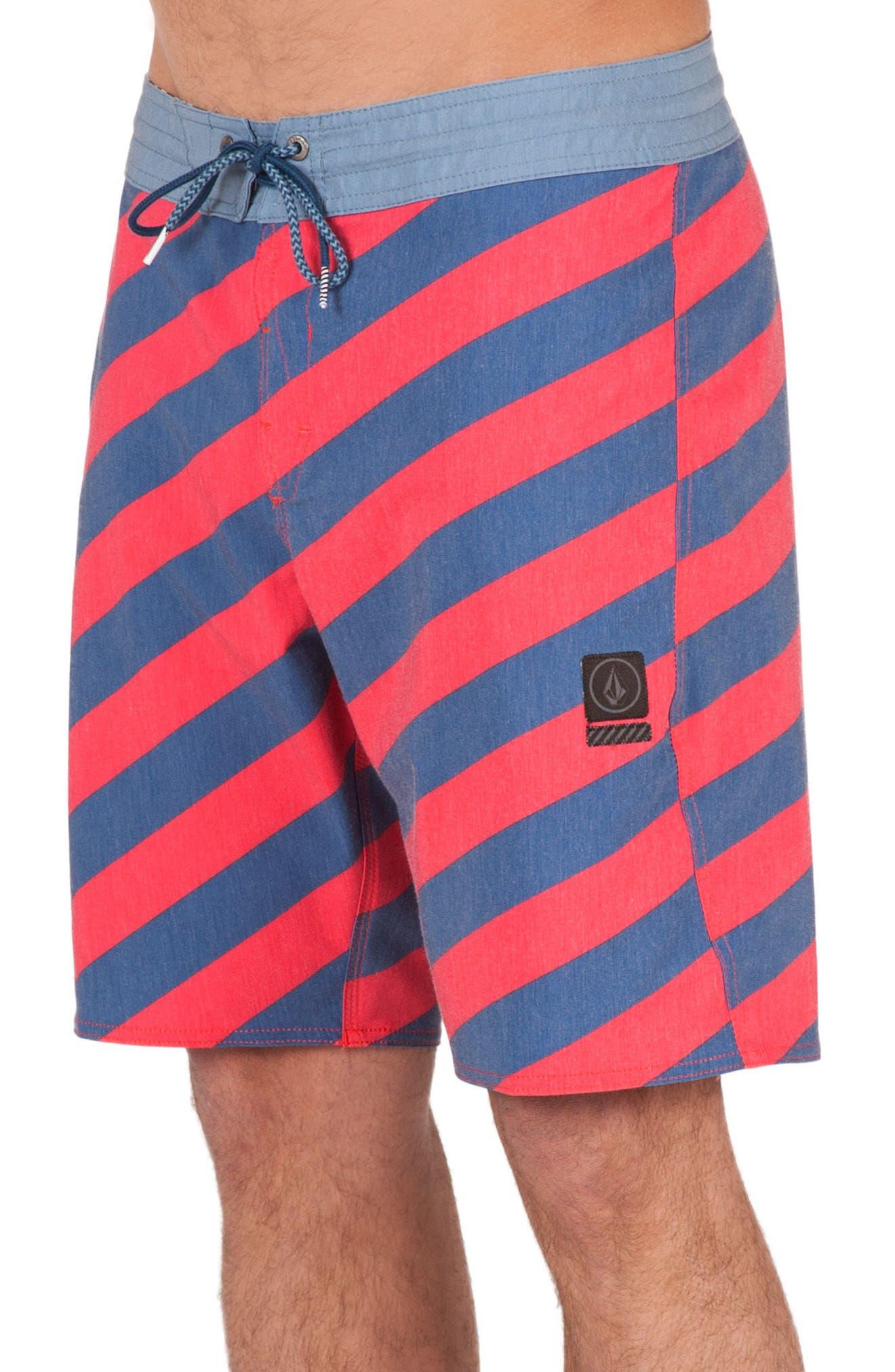 Stripey Slinger Board Shorts,                             Main thumbnail 9, color,