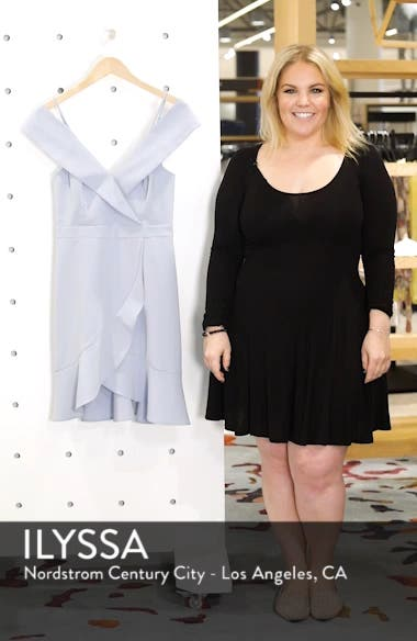 Cold Shoulder Ruffle Sheath Dress, sales video thumbnail