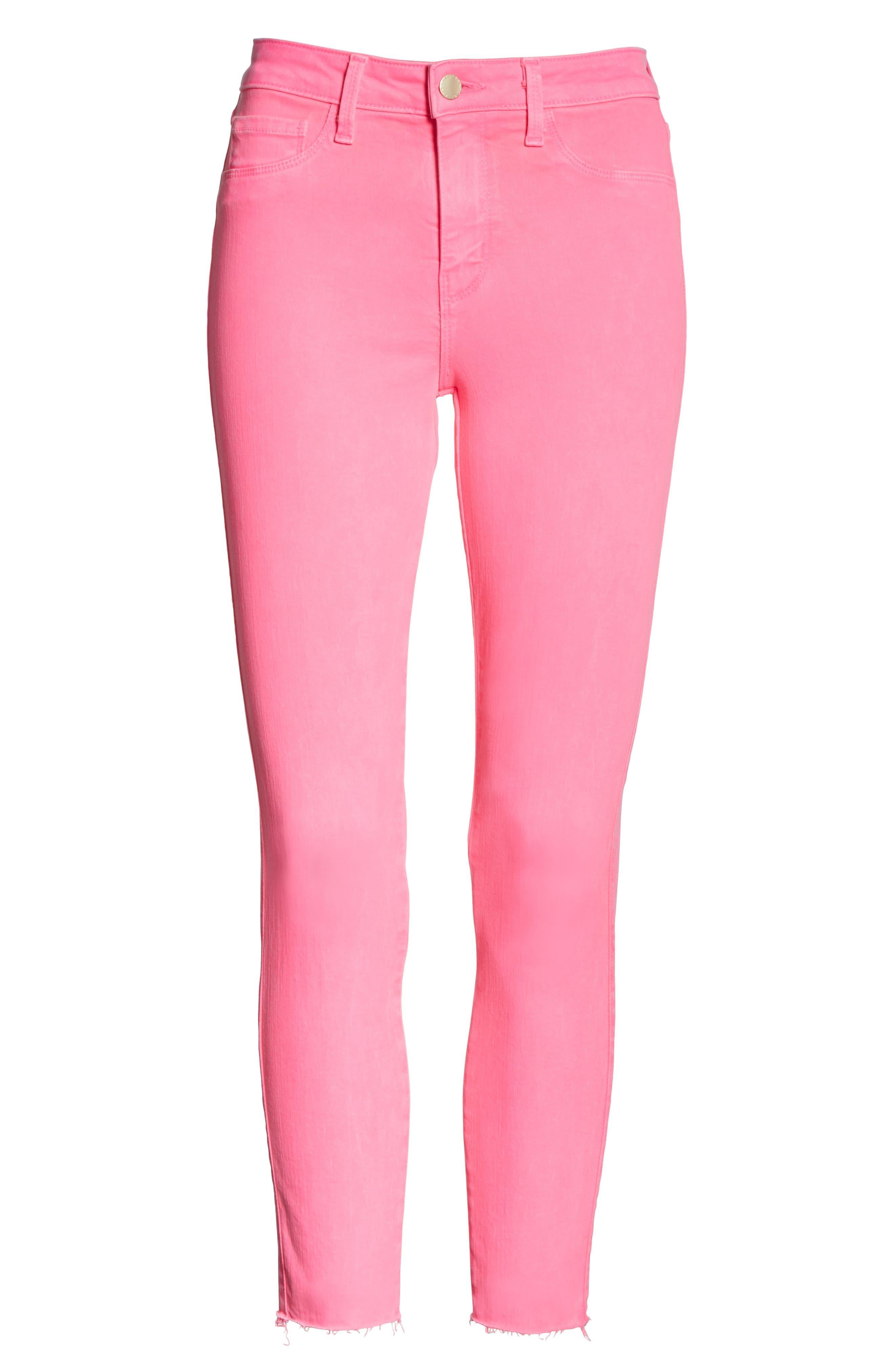 Margot Crop Skinny Jeans,                             Alternate thumbnail 6, color,                             FLAMINGO