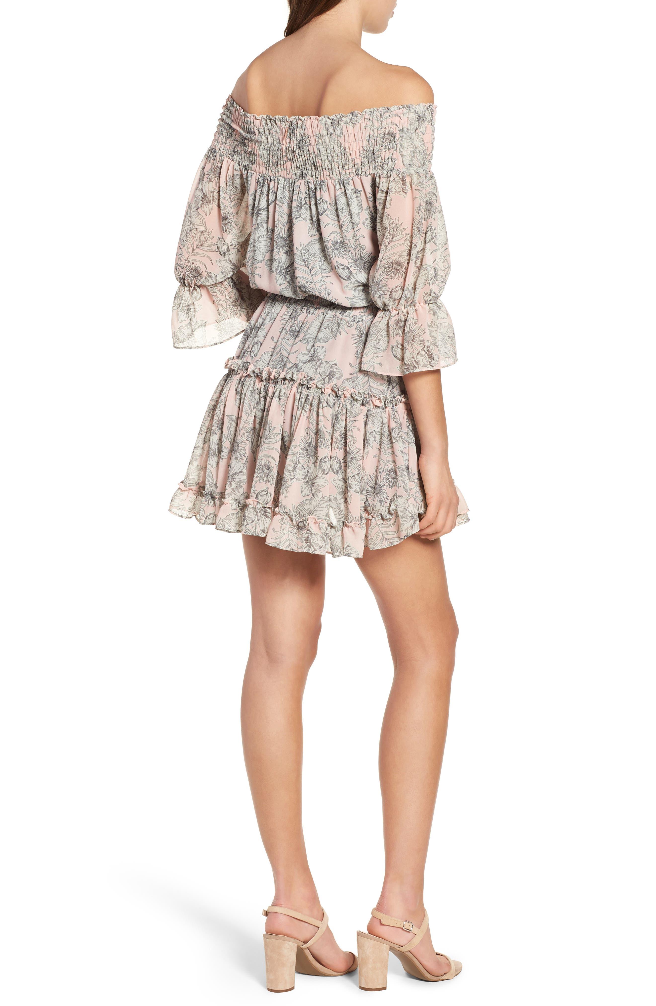 MISA LOS ANGELES,                             Geroux Off the Shoulder Blouson Dress,                             Alternate thumbnail 2, color,                             650