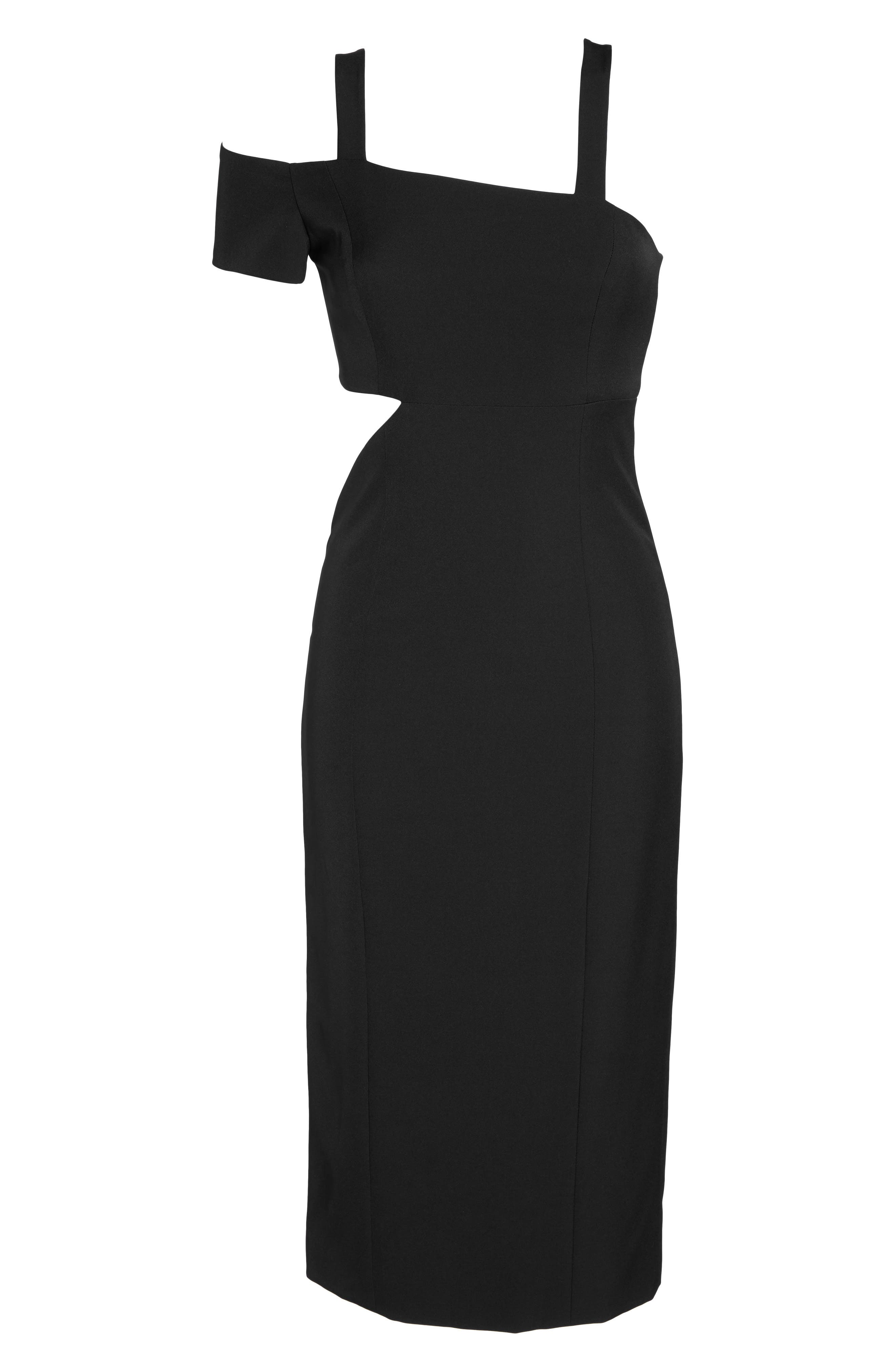 Marquette Cutout Sheath Dress,                             Alternate thumbnail 2, color,                             001