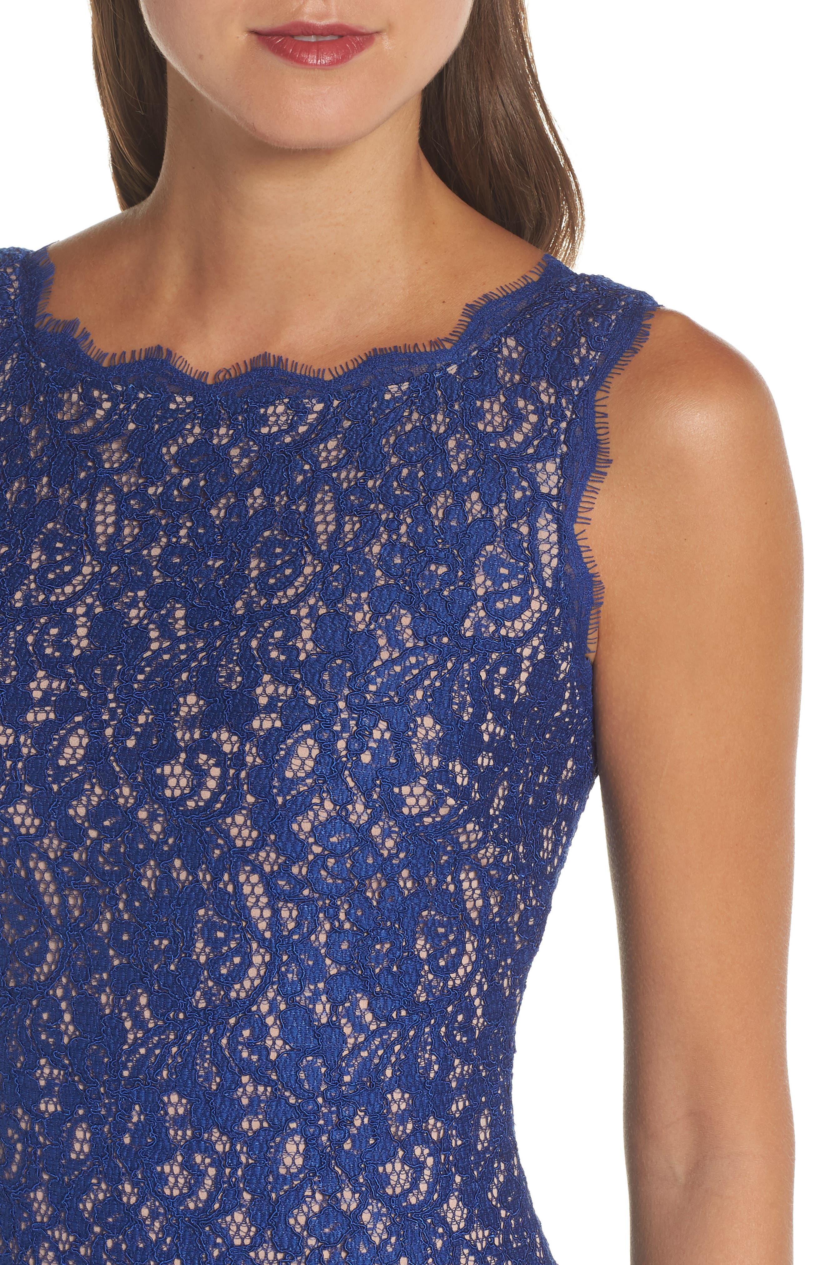 Boatneck Lace Sheath Dress,                             Alternate thumbnail 125, color,