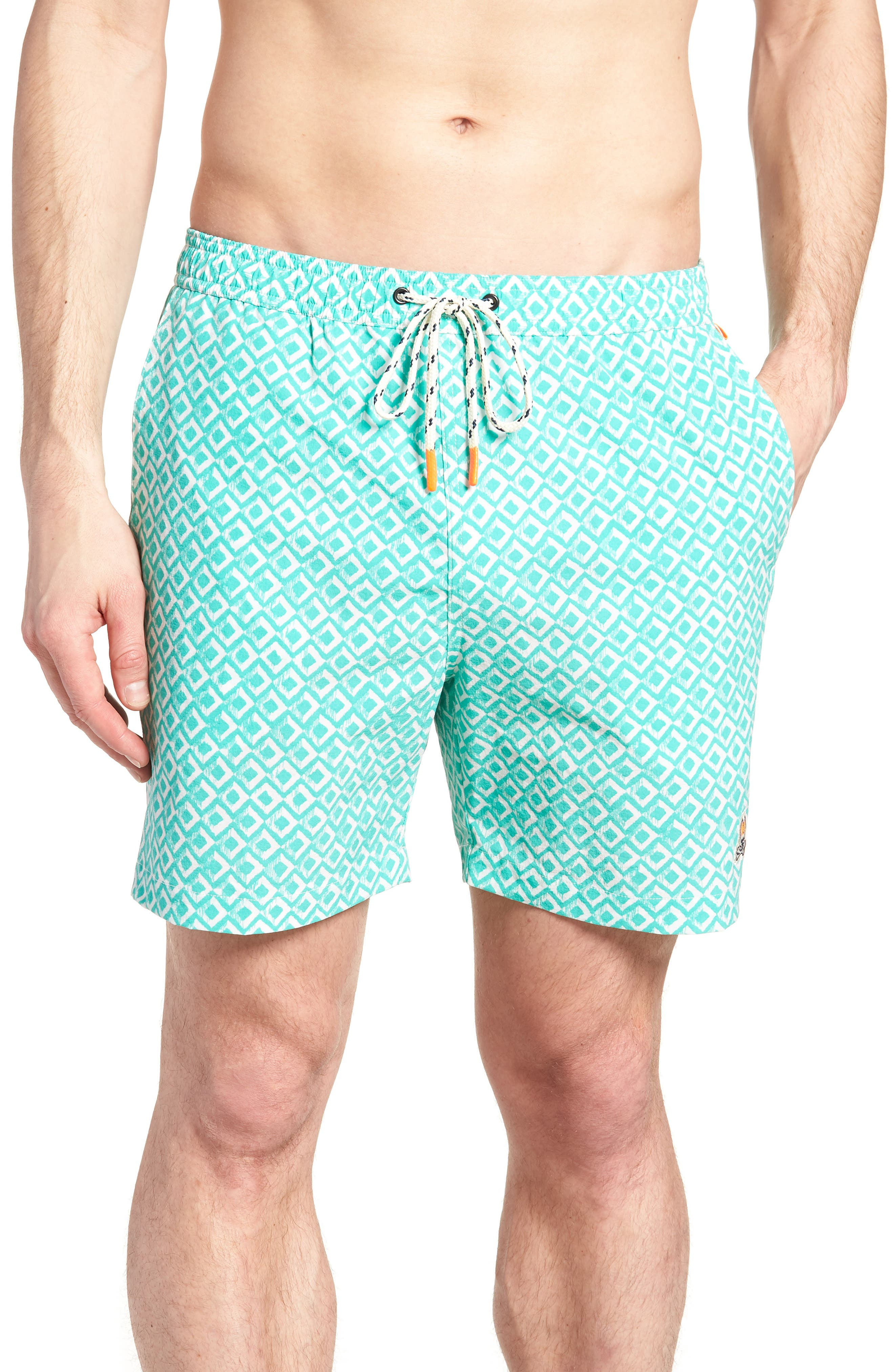 Drippy Diamond Swim Trunks,                             Main thumbnail 1, color,                             300