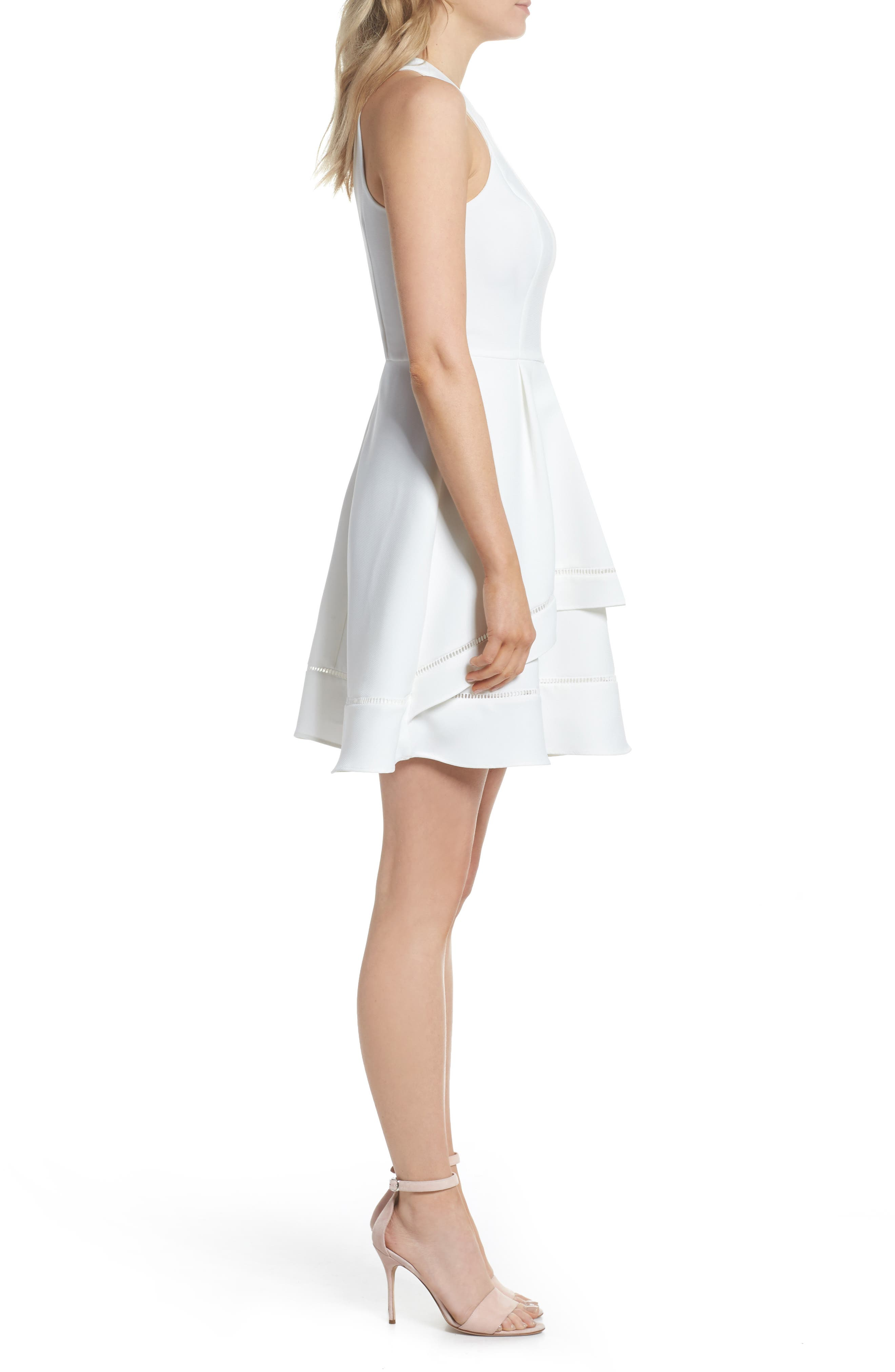 Gemma Fit & Flare Dress,                             Alternate thumbnail 3, color,                             100