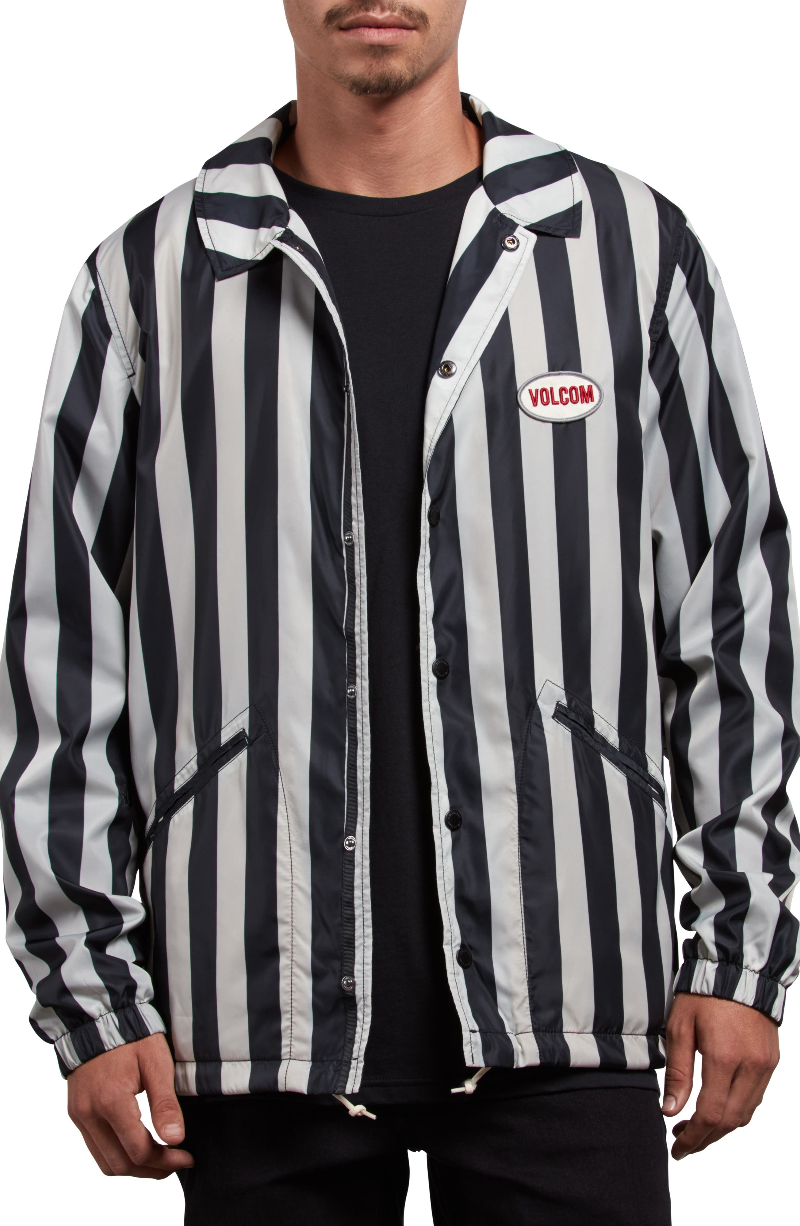 Brews Coach's Jacket,                         Main,                         color, BLACK WHITE